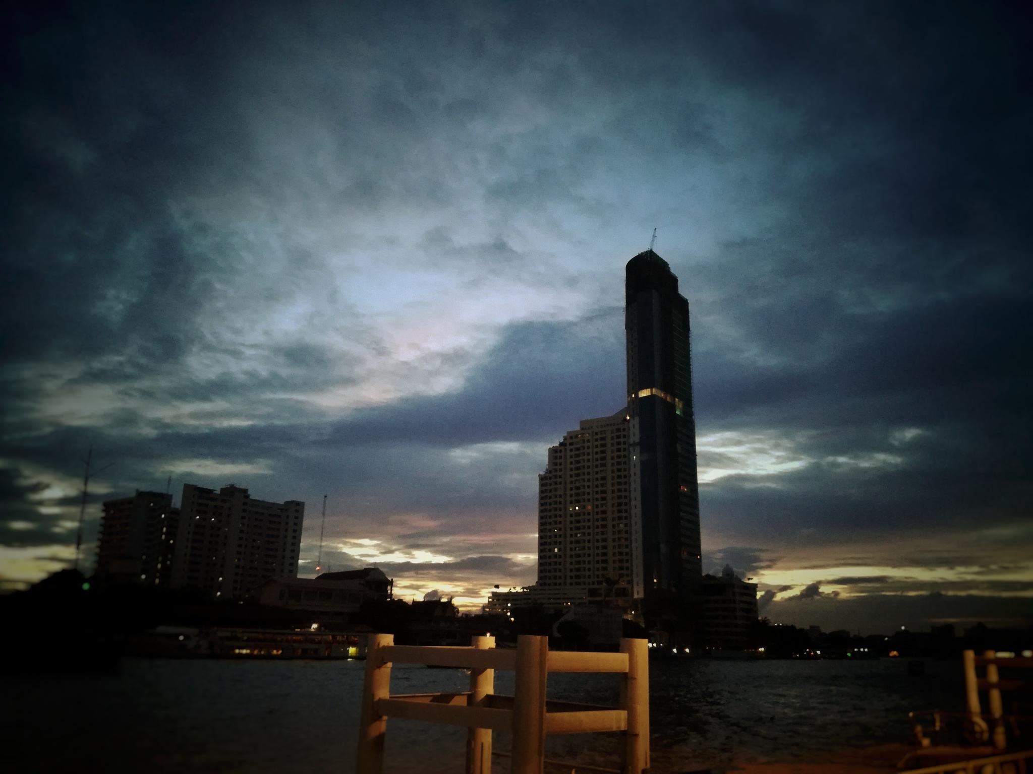 Bangkok - Ciao Phraya - river  by Christopher maraglino
