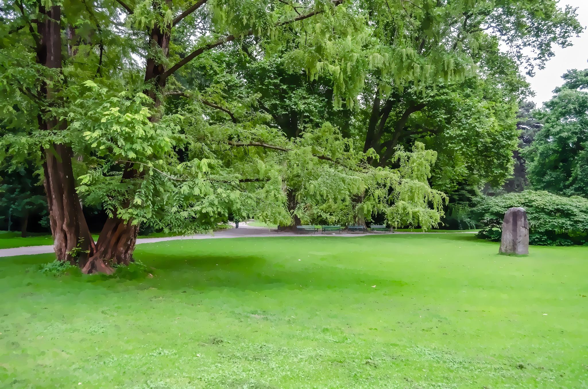 Photo in Nature #garden #monolith #innsbruck #trees #lawn