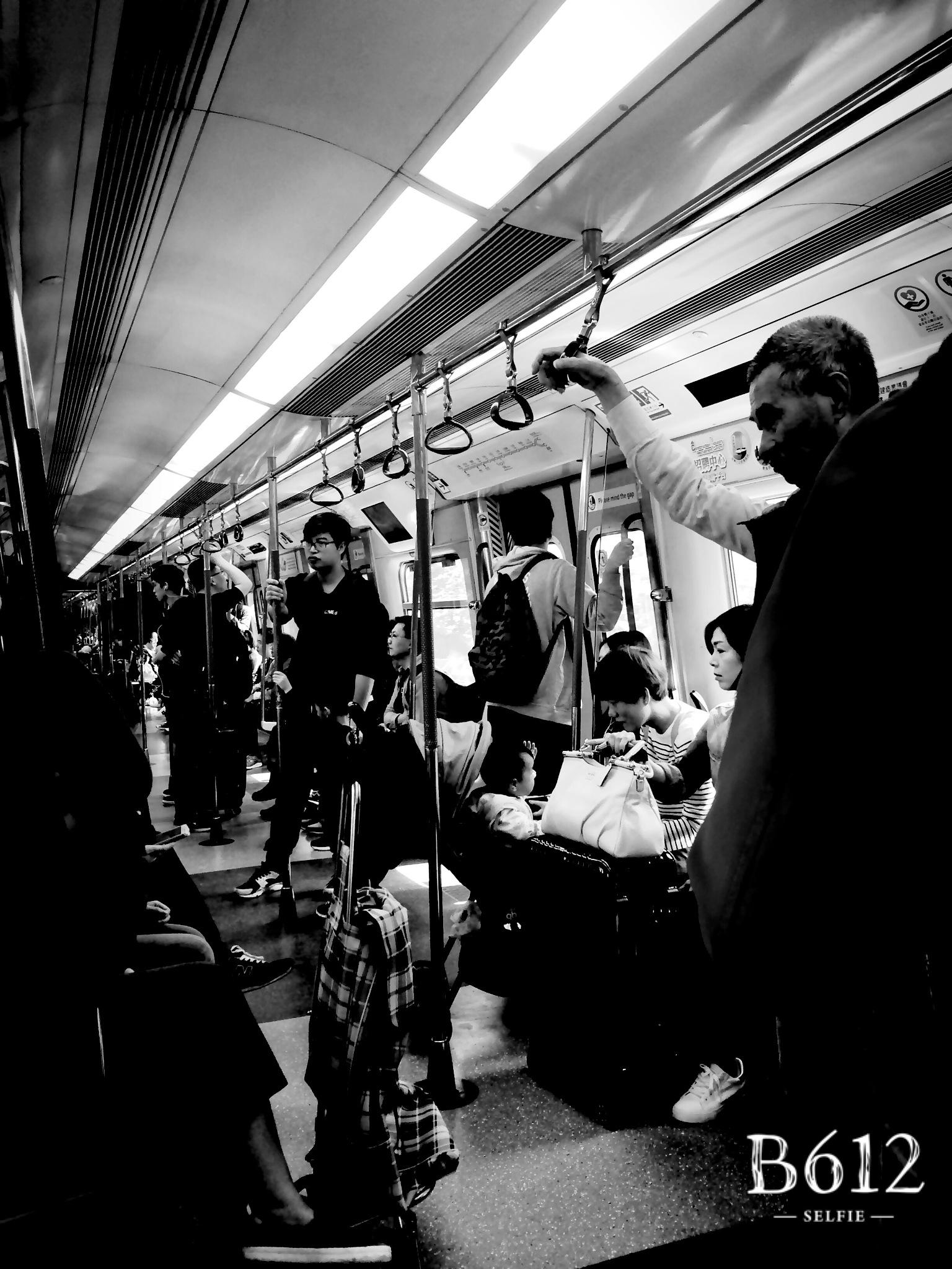 Black and White Train by Shirley Martin Wang