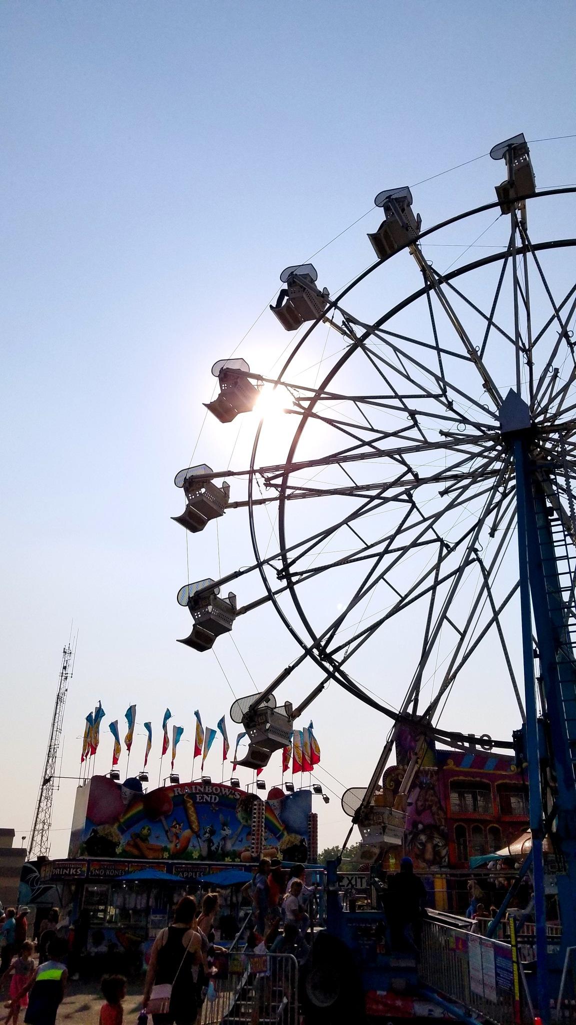 Ferris wheel silhouette by Stephen Ketchum