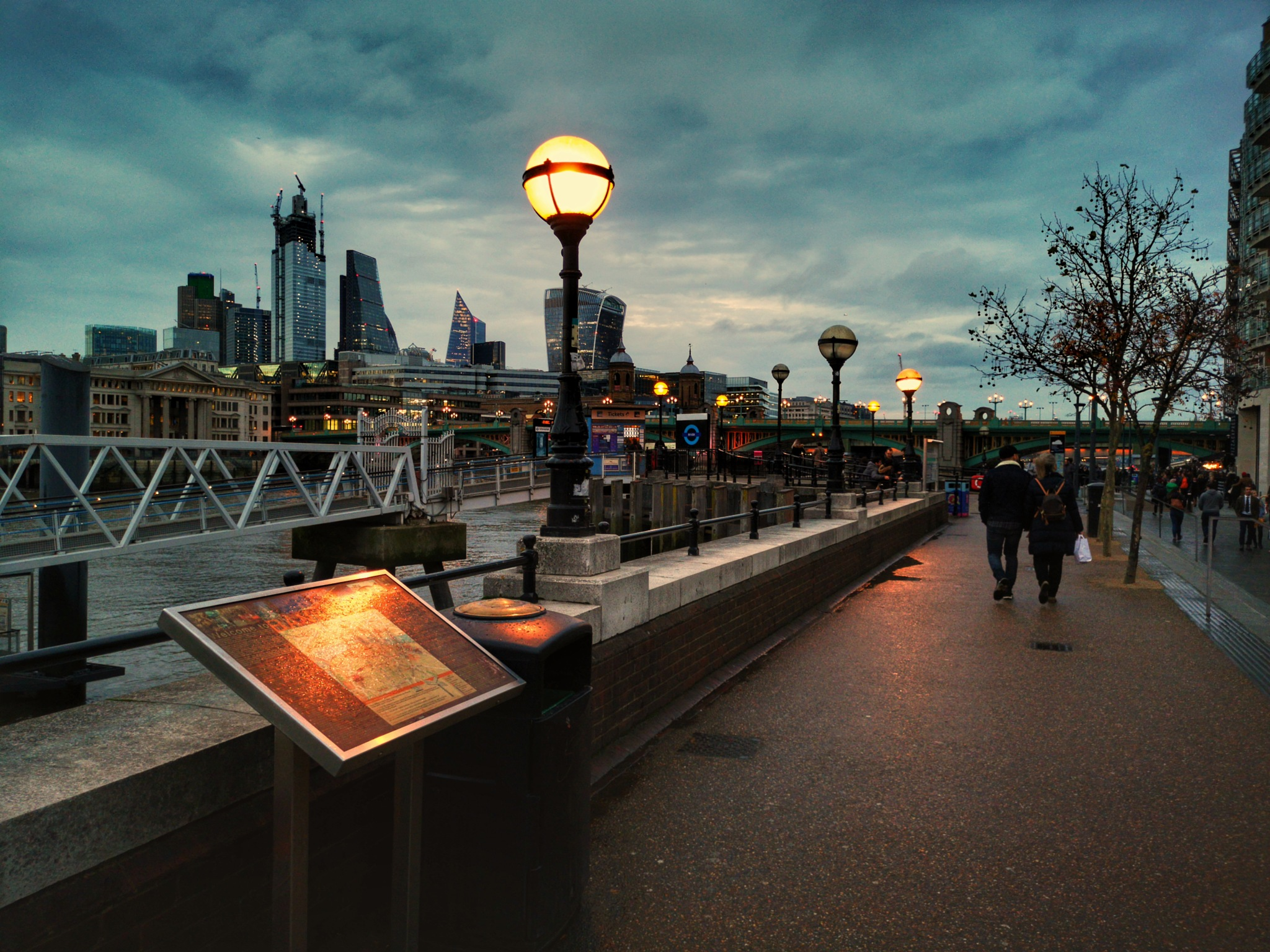 Evening walk on the Southbank by Thomas White Photos