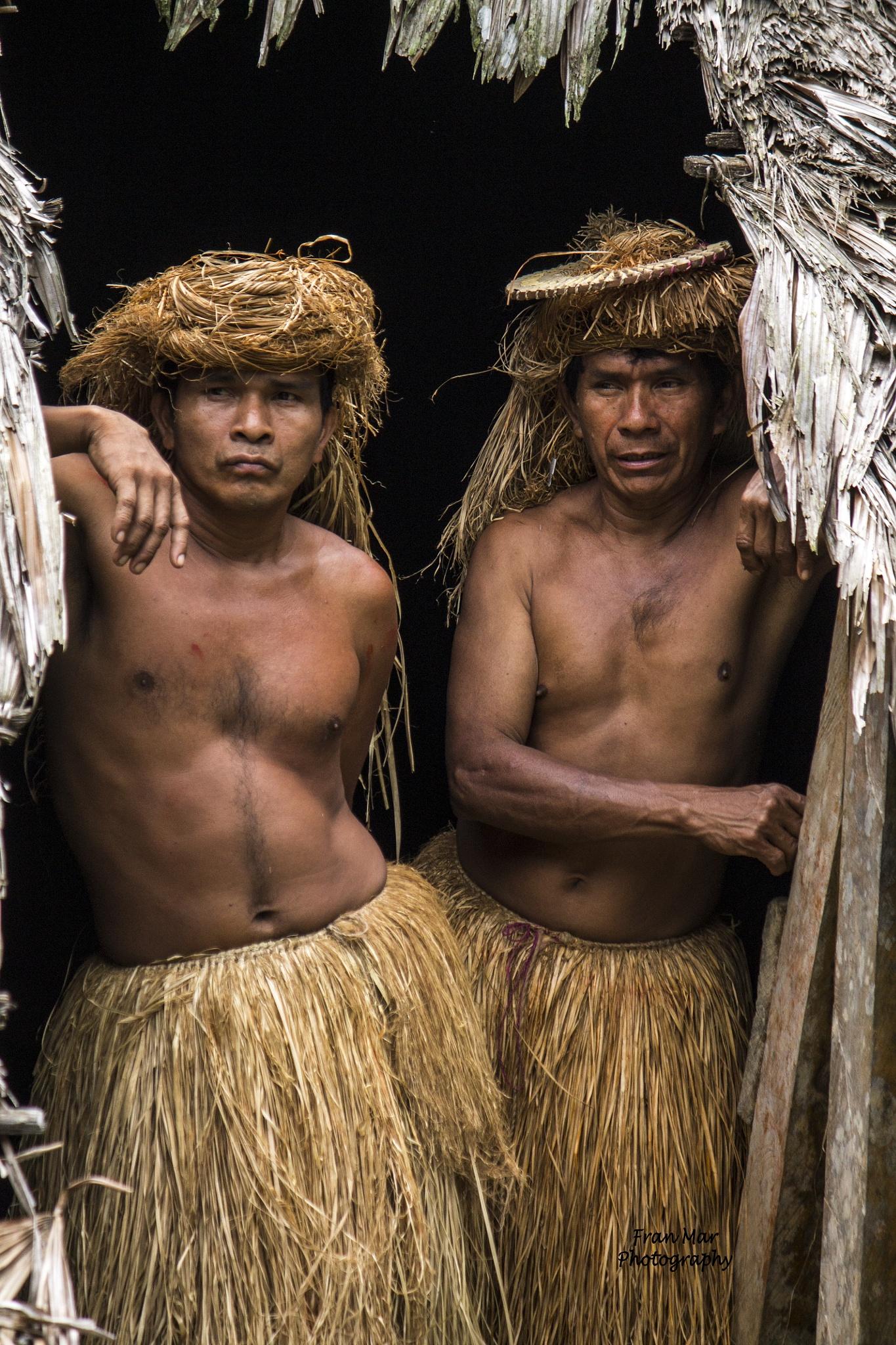 Yagua tribesmen by Meg Francoeur