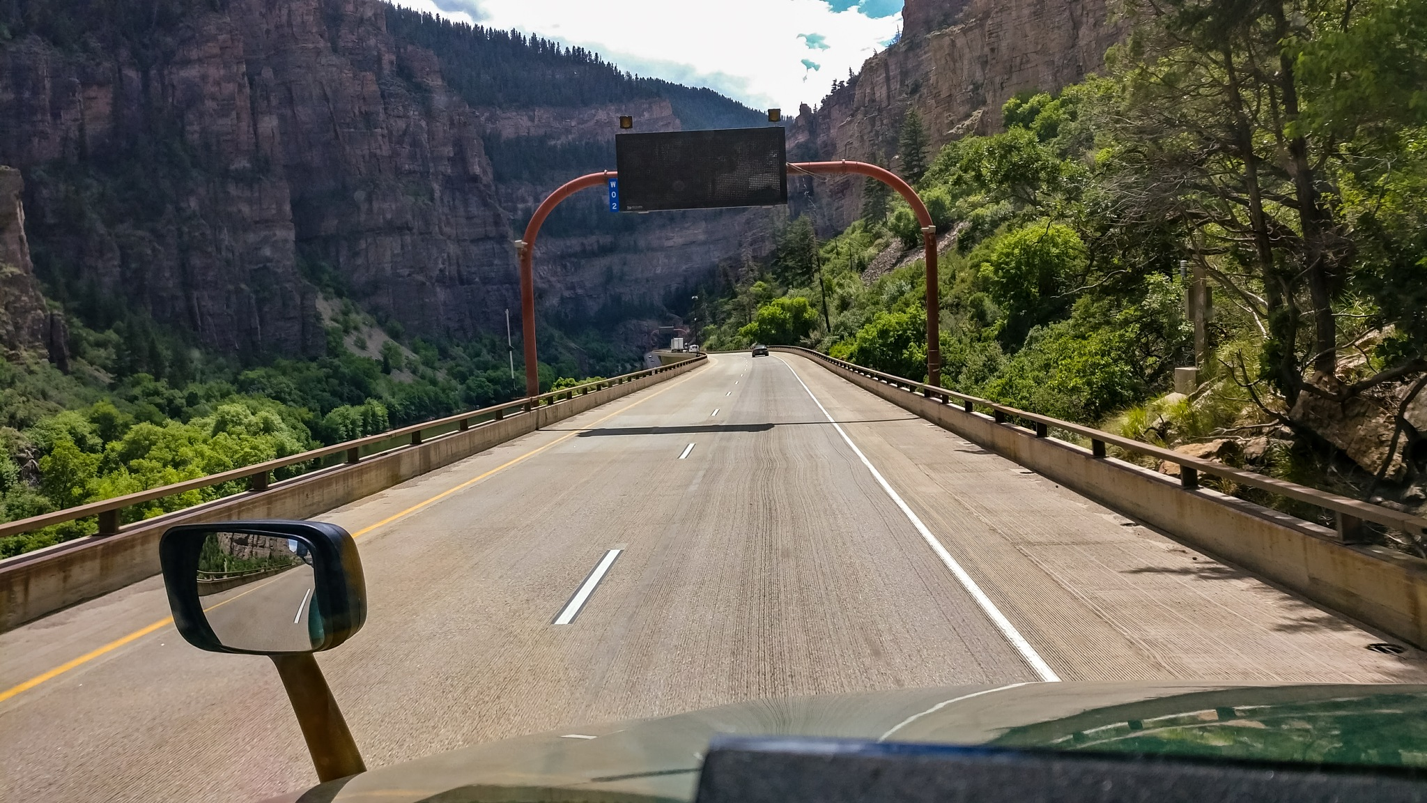 Photo in Landscape #mountains #canyon #i-70 #colorado #trucking #travel #summer #peaceful