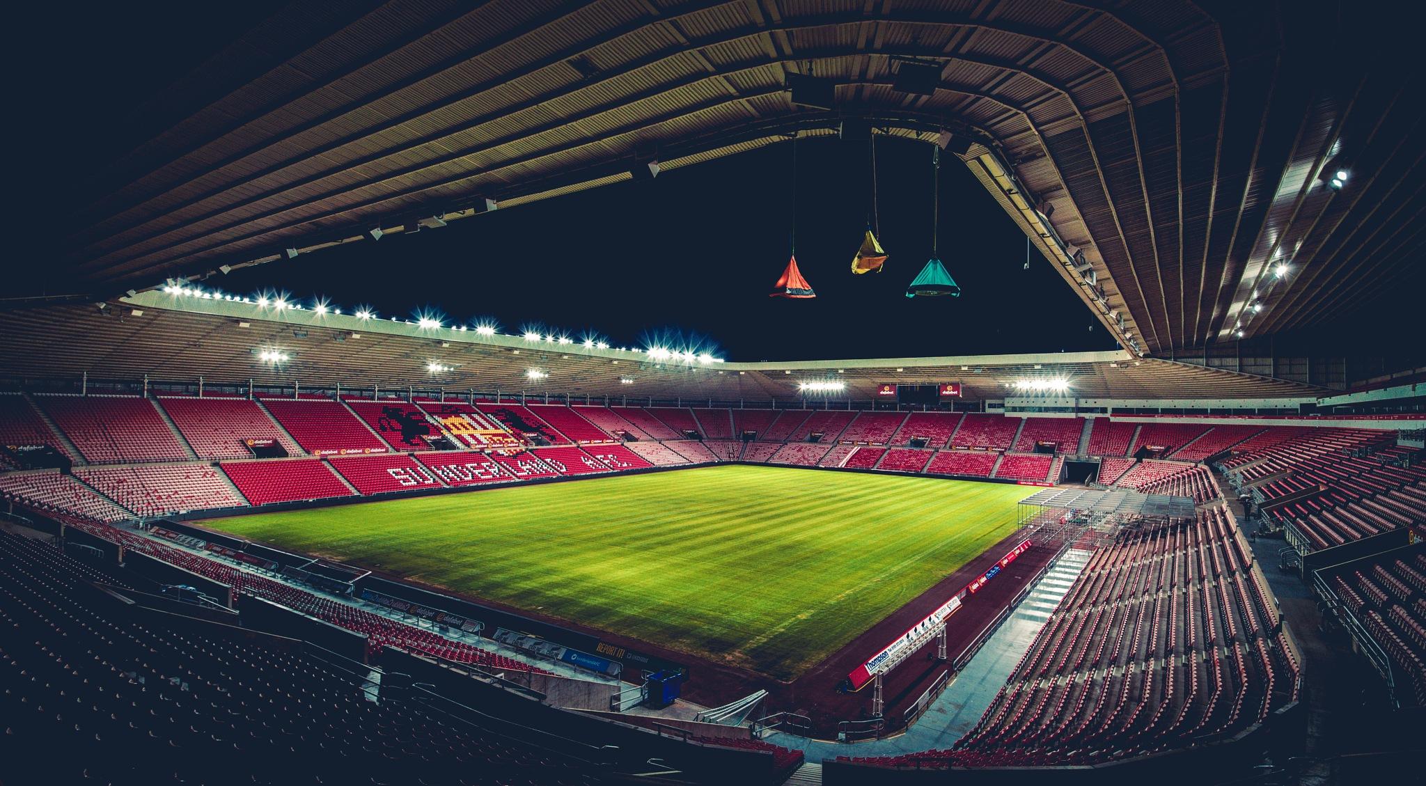Photo in Journalism #sunderland #football #portaledge #sleeping #charity #stadium #centrepoint #floodlights #pitch #seating #nighttime #extreme #climbing