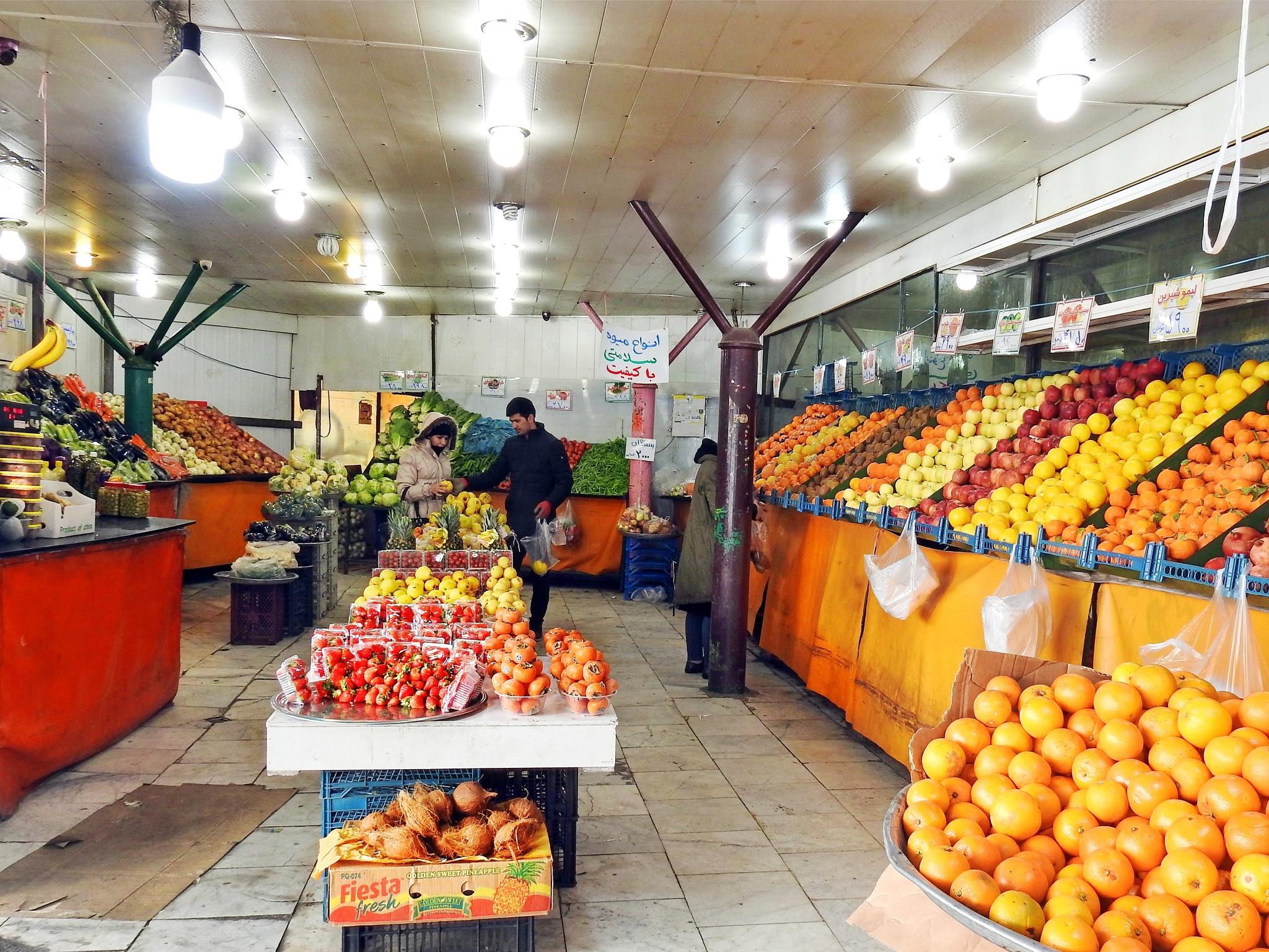 Fruit shop by Aahmad Hezavei