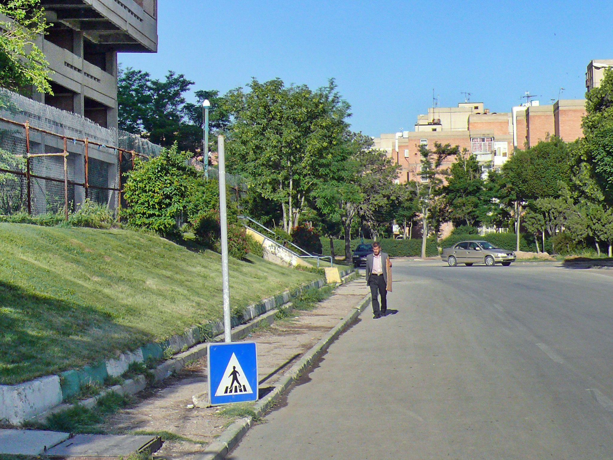Pedestrian crossing sign!!! by Aahmad Hezavei