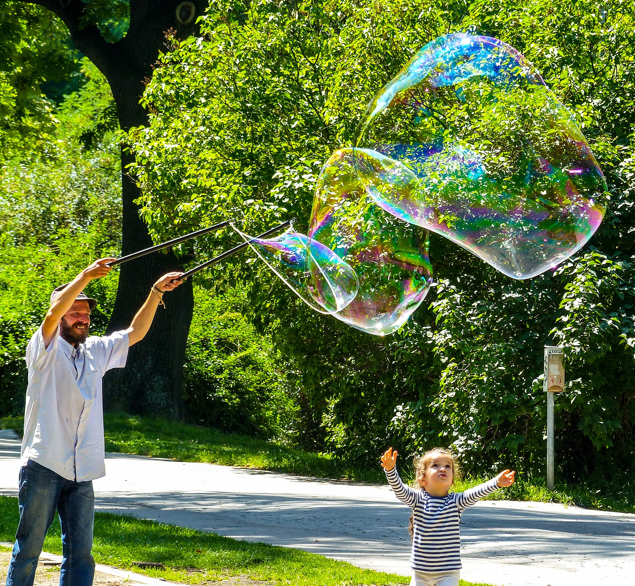 Bubbles.....a childs delight. Prague by Ruth Hartley