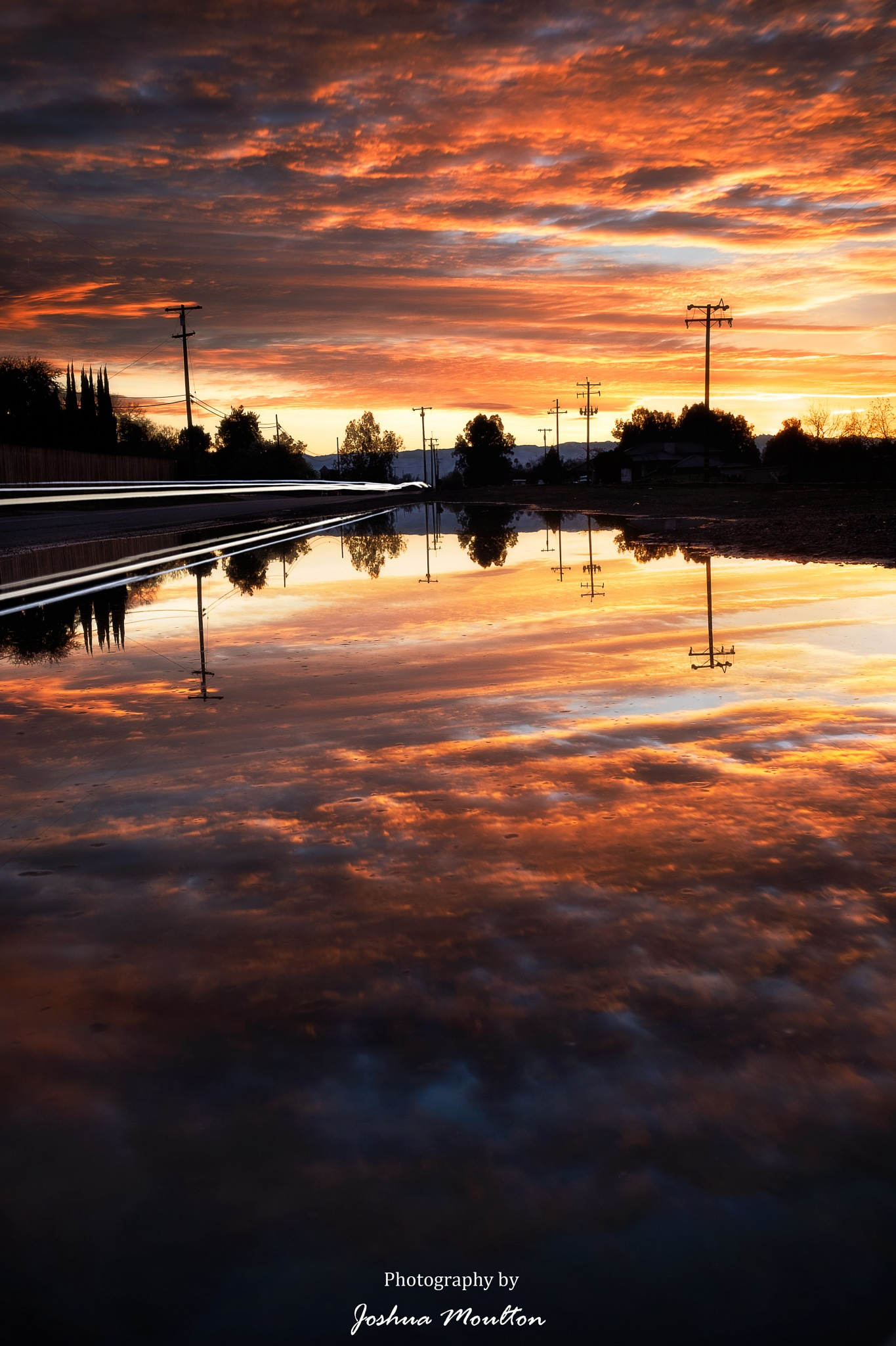 Photo in Landscape #sunrise #fresno #central valley #long exposure #ndfilter #landscape #mirror reflection #light trails