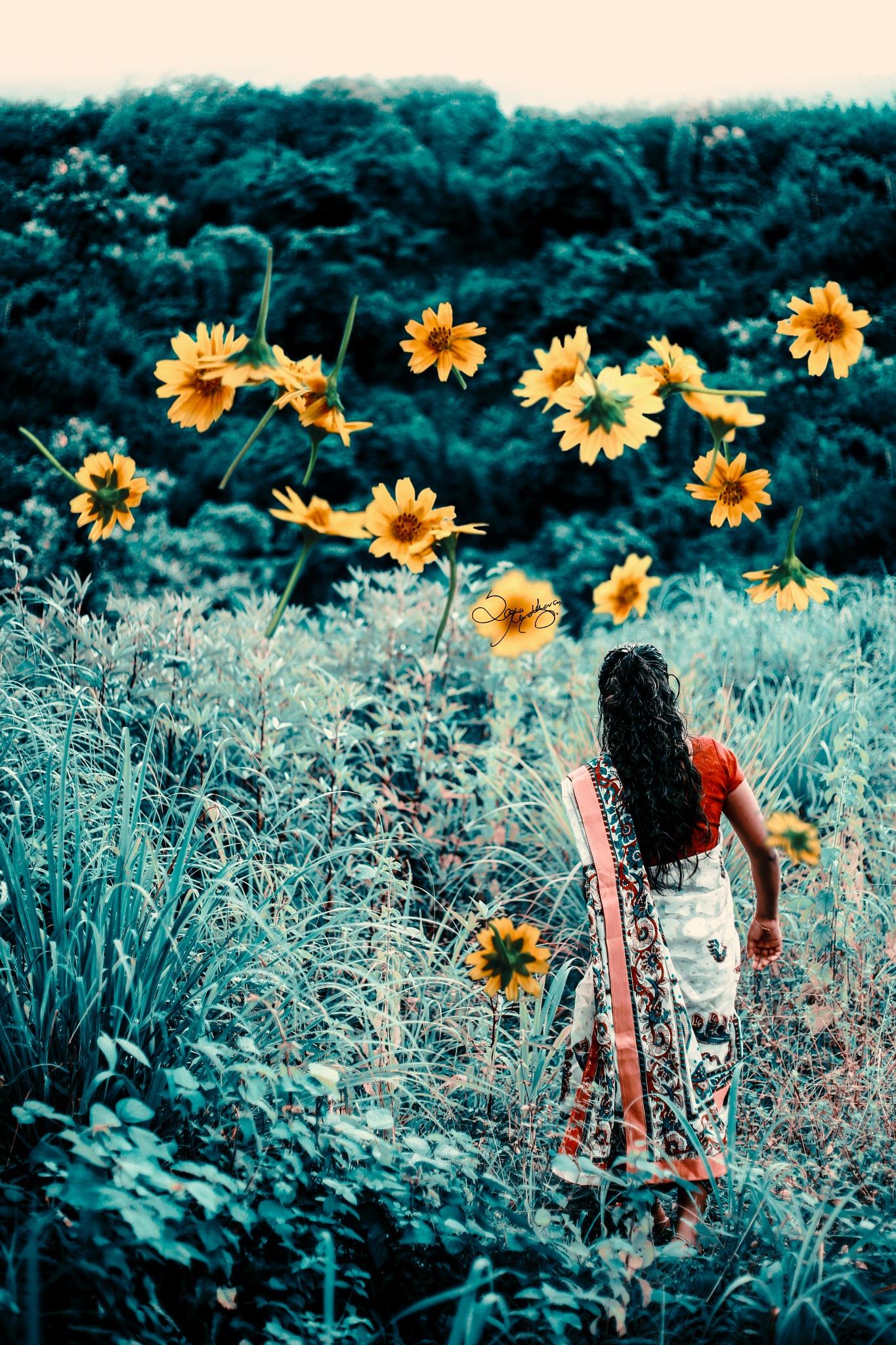 searching flowers...! by Sarma Madhavan