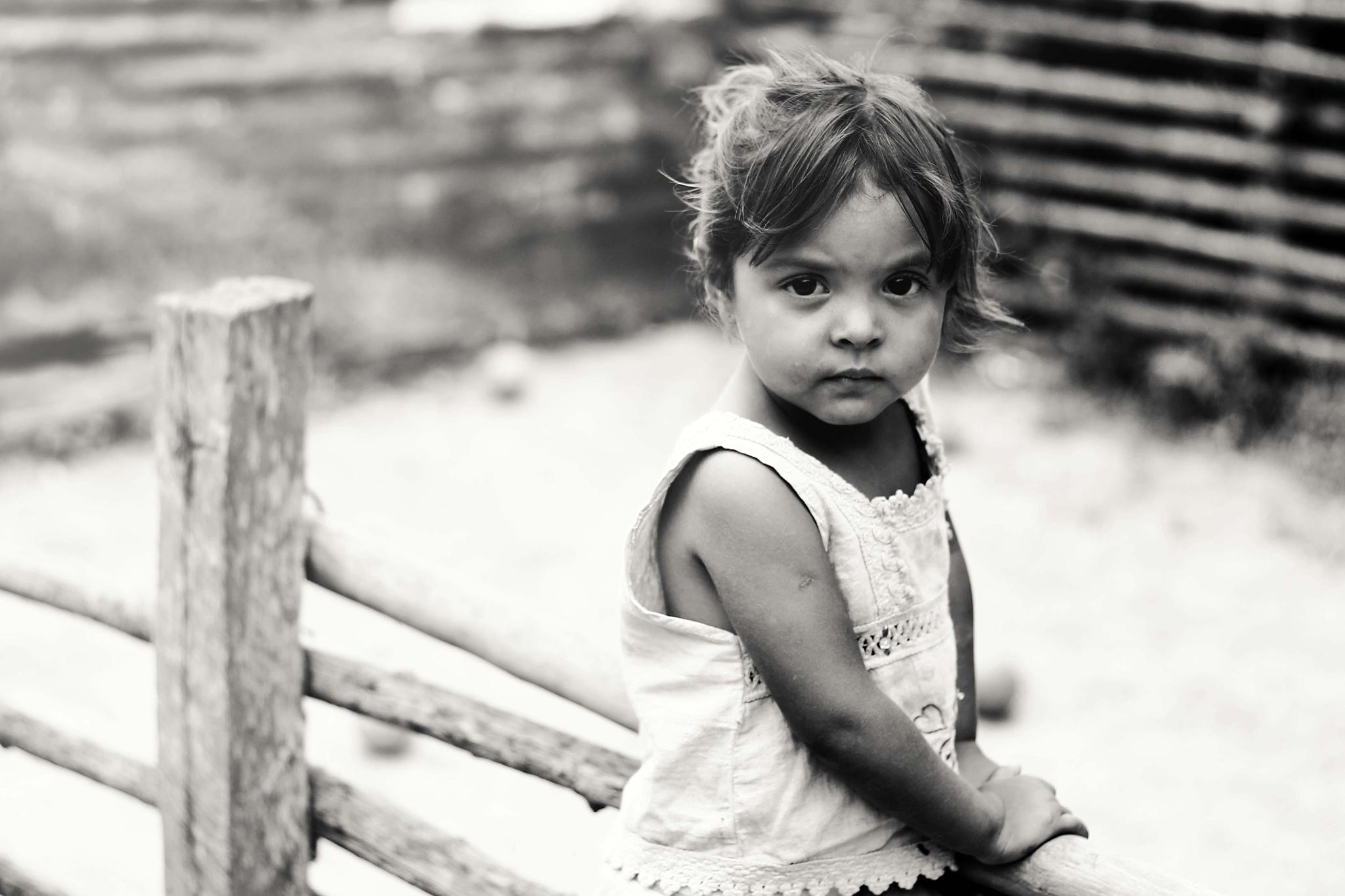 Portrait of a little girl of San Jose by Gabriel Gomez