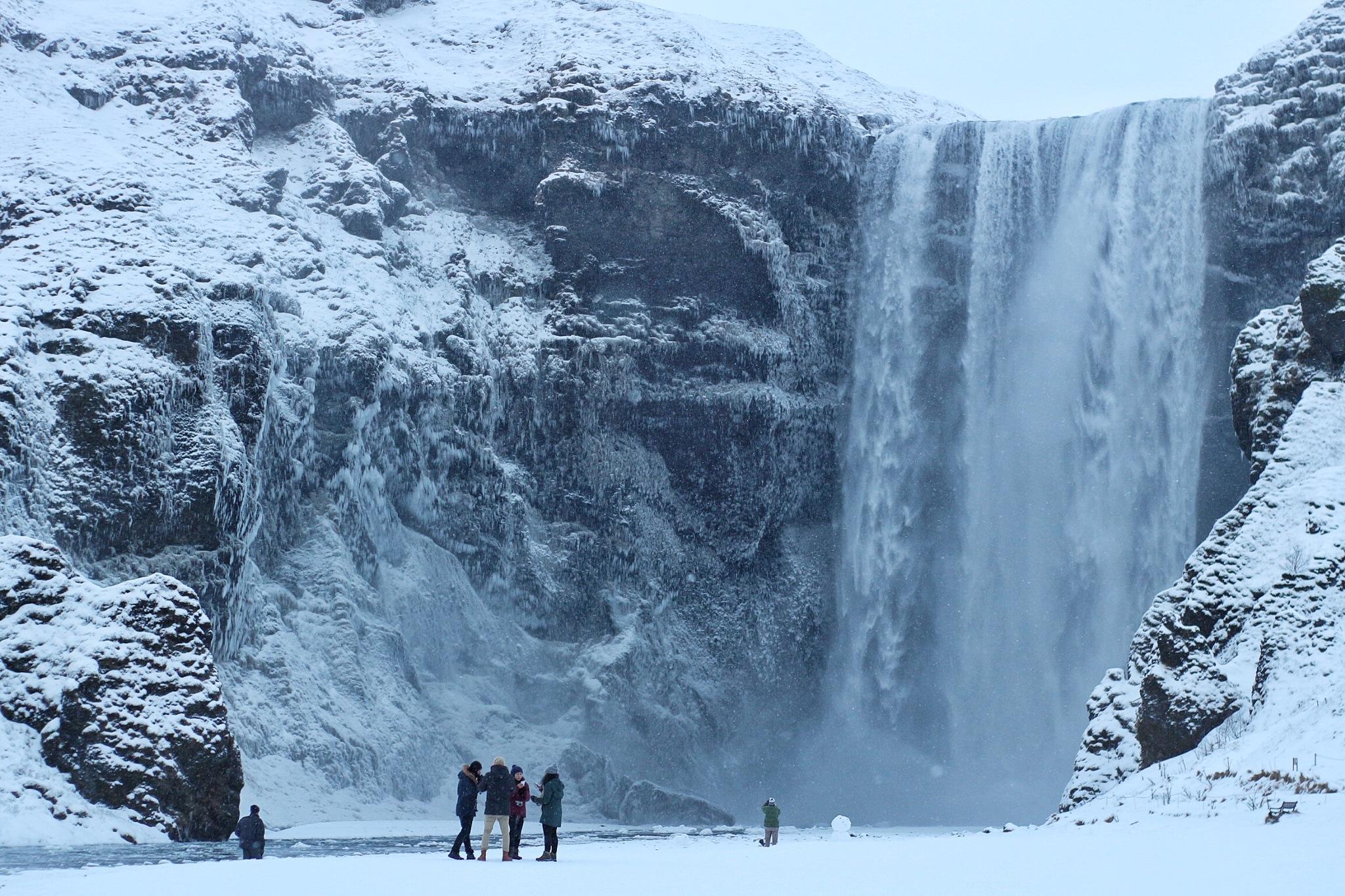 Skógafoss waterfall by Whardana halim