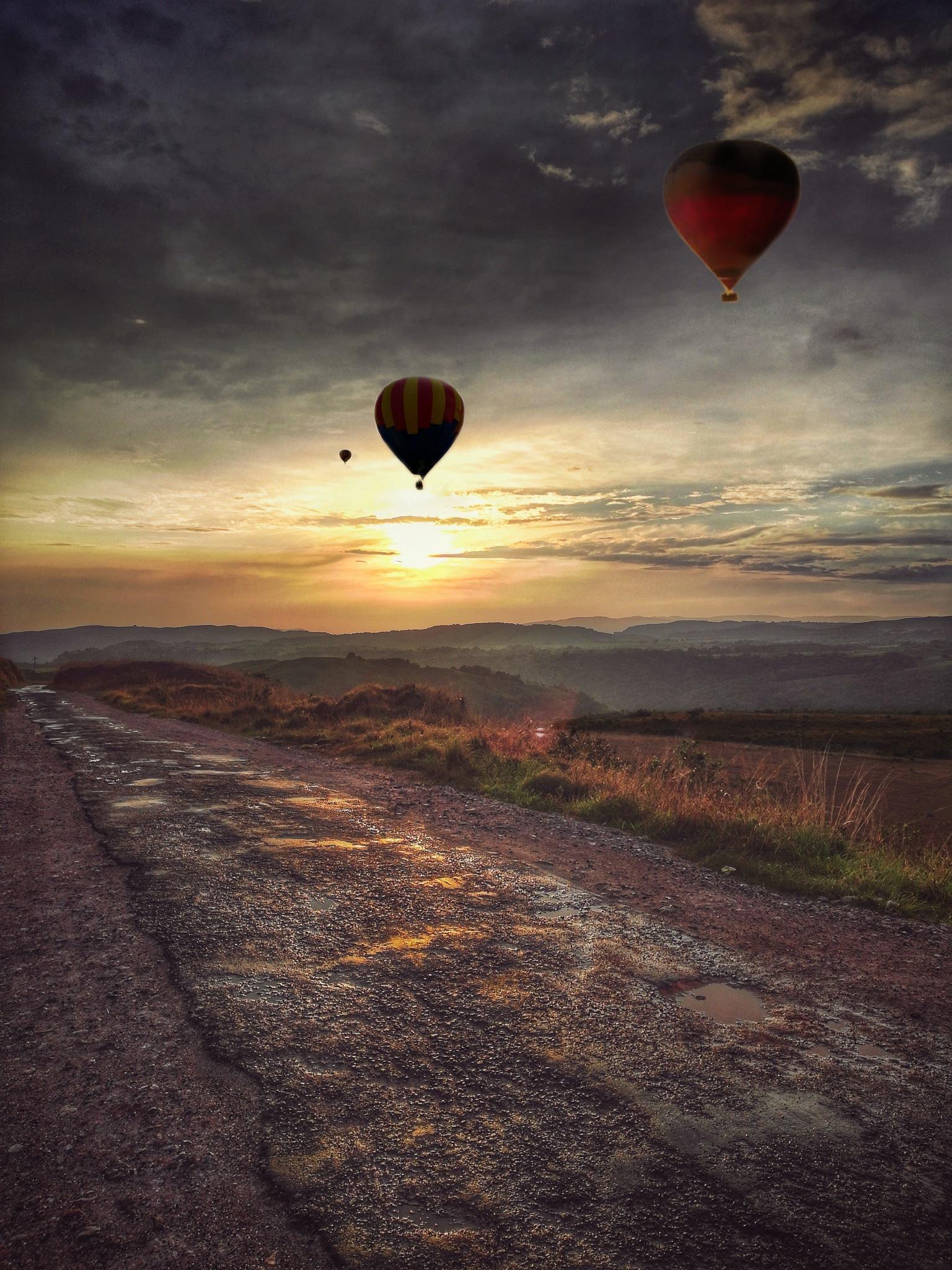 Hot air balloon by Kangkan Kakati