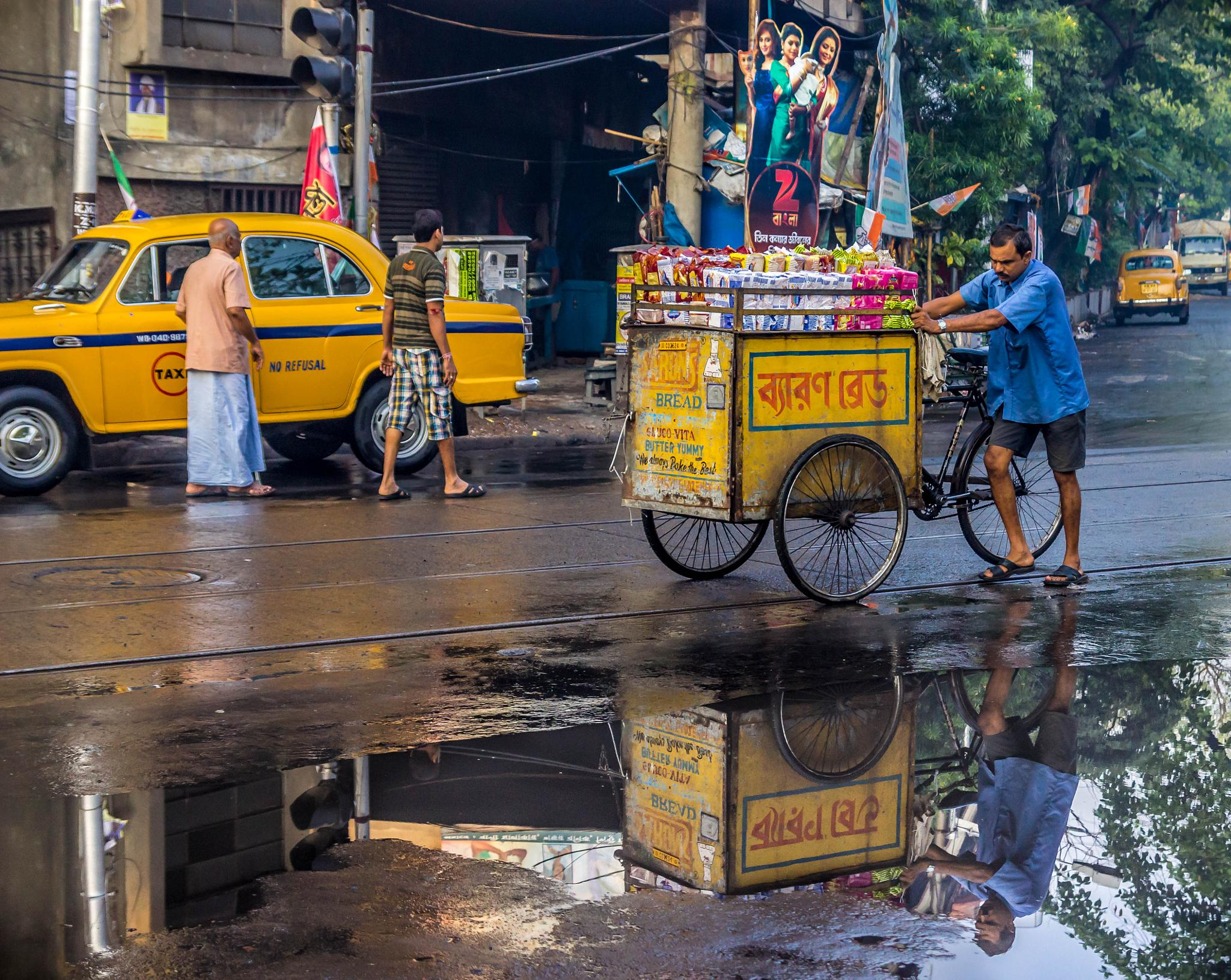When Road reflects  by Titas Ghosh