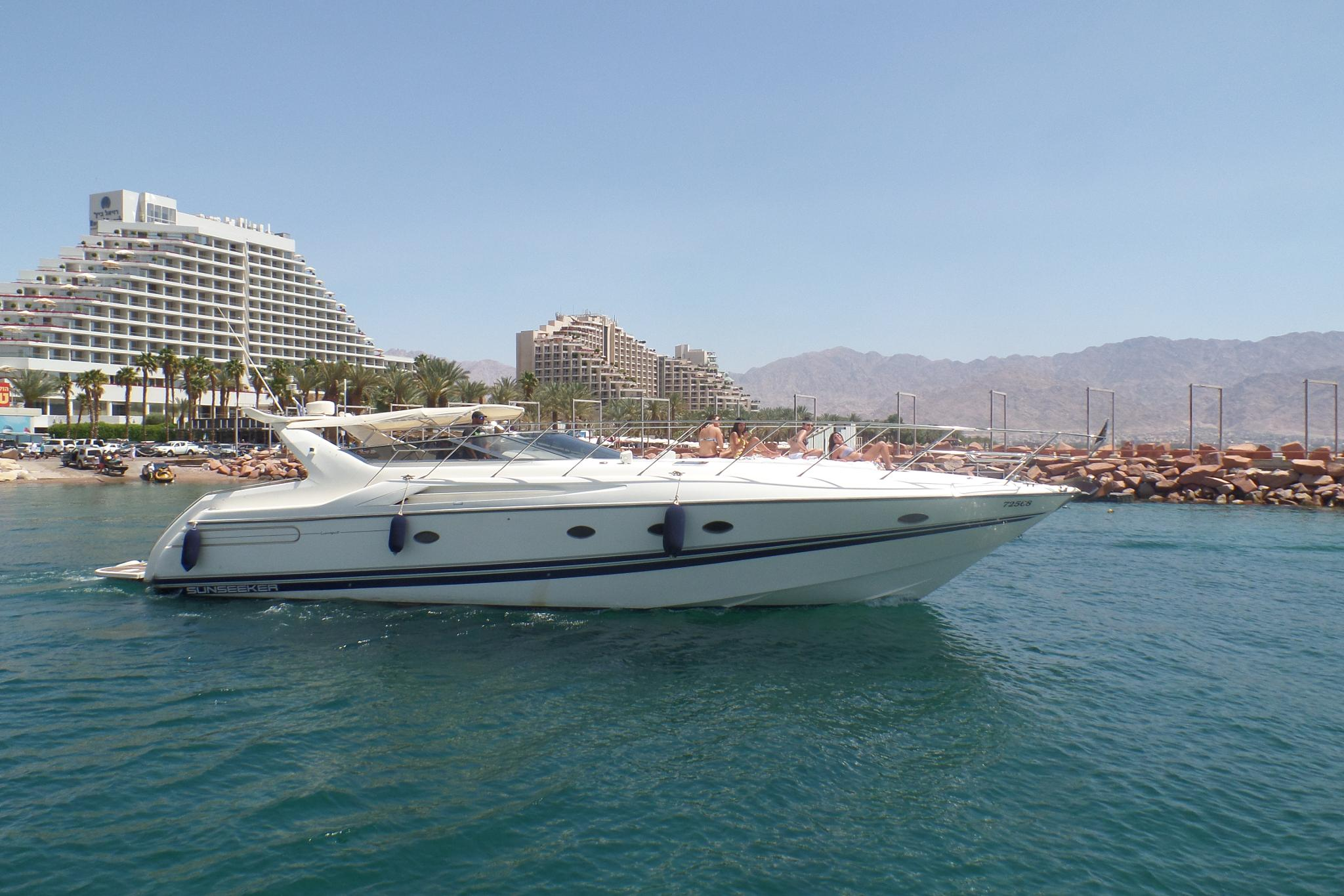 A yacht in Eilat - View from the boat - April 2015 by Francine Waterman