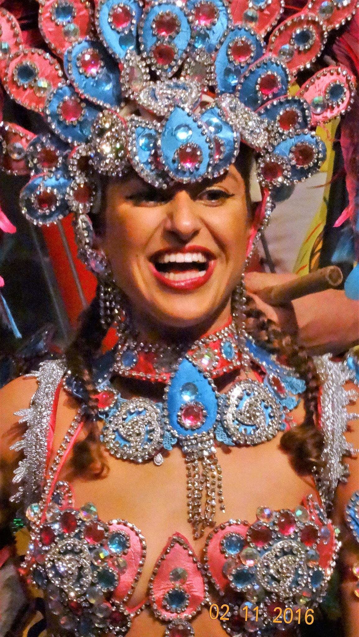 Israeli Dancer in the after-show of Baila Brazil – Tel Aviv- Israel  by Francine Waterman