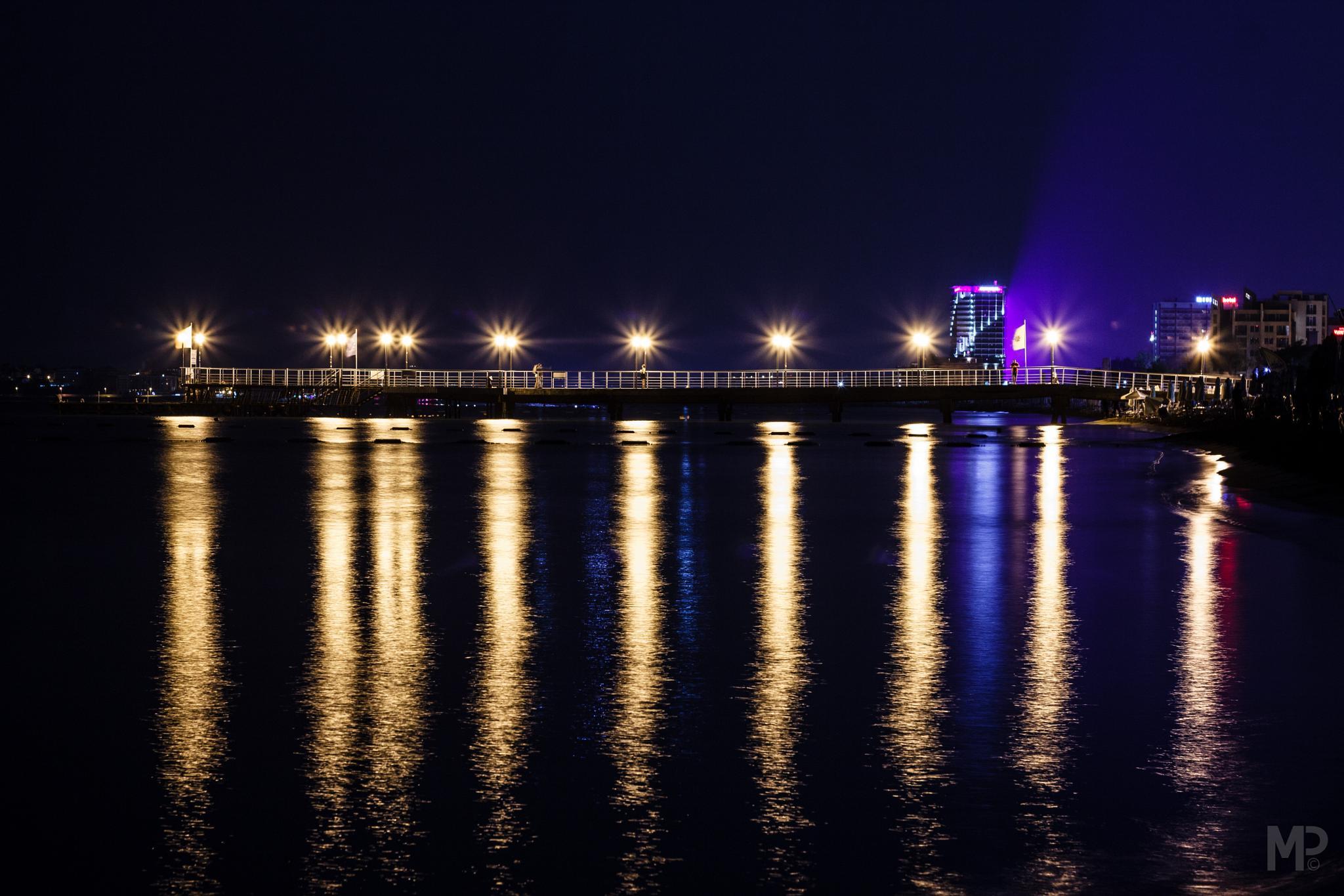 Night pier by Michael Pribula