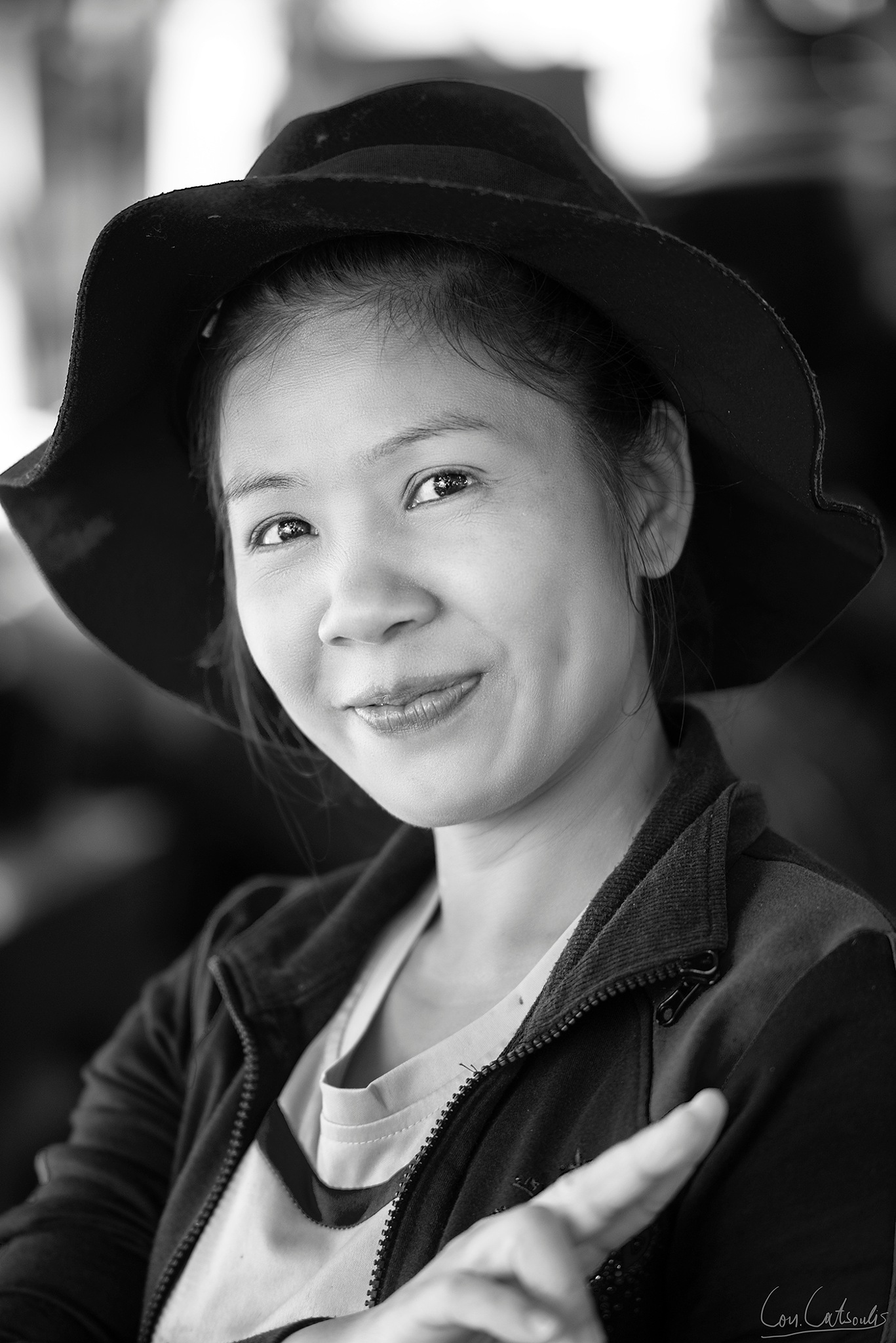 Photo in People #woman #womanportrait #b&w #thai #thailand