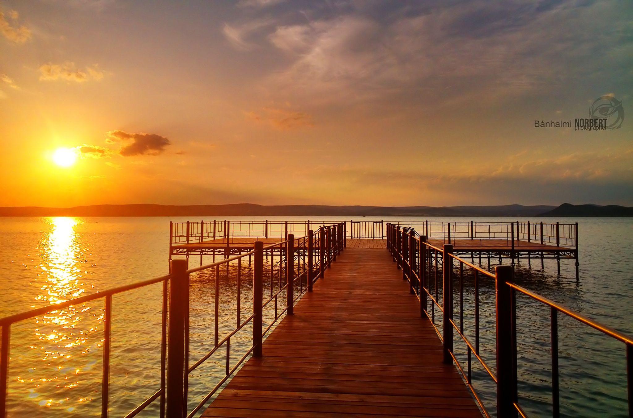 Balaton lake by Banhalmi Norbert