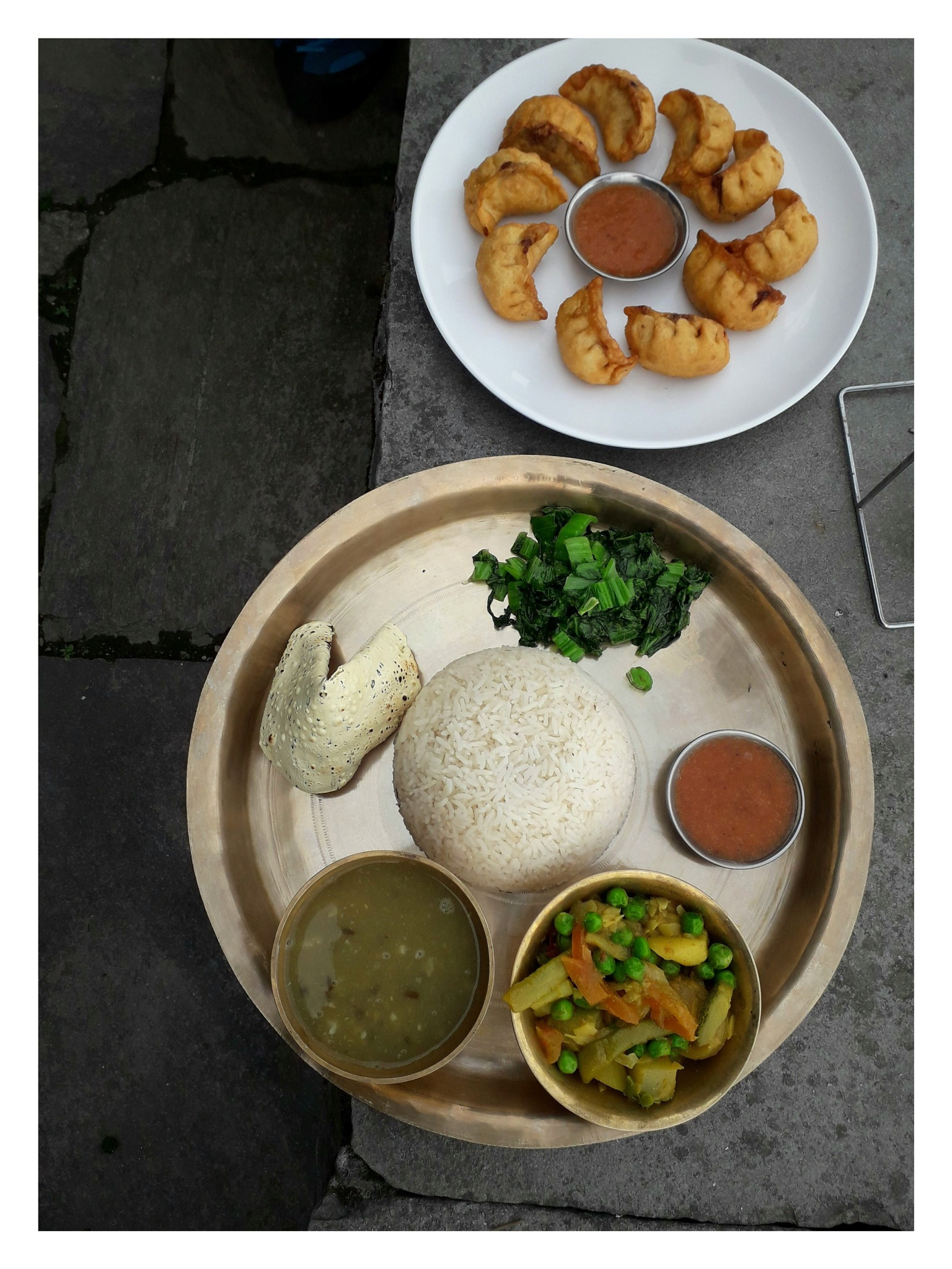 traditional Nepalese food by Mathias Winkler