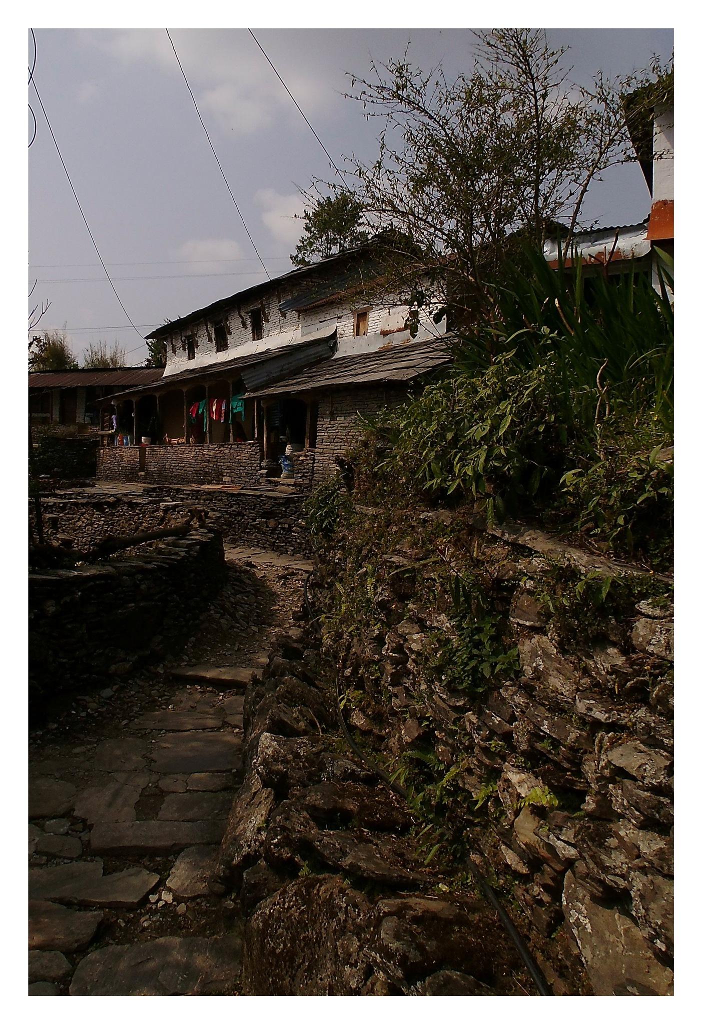 Nepalese farmhouse by Mathias Winkler