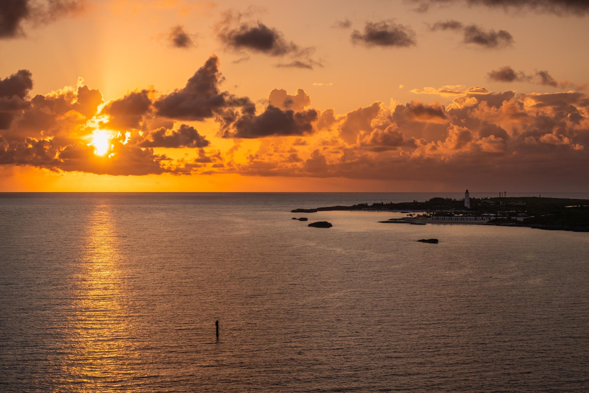 Sunrise at Cococay,  Bahamas by Noel Villasenor