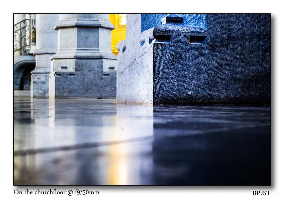 I kneeled on the church floor with my 50mm by Benny Poncelet