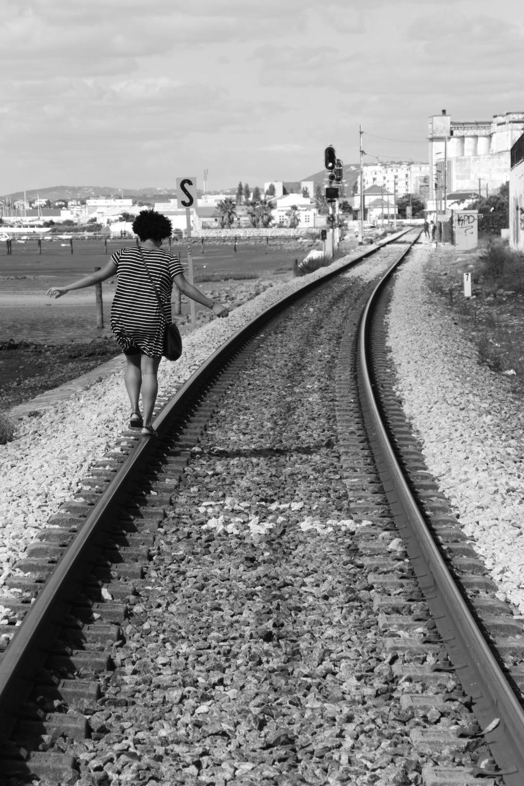 Walking a fine line  by Bob Jones
