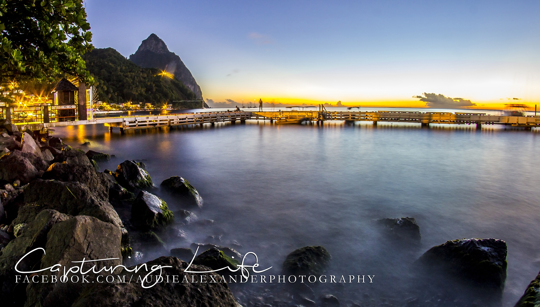 Soufriere Waterfront by Audie Alexander