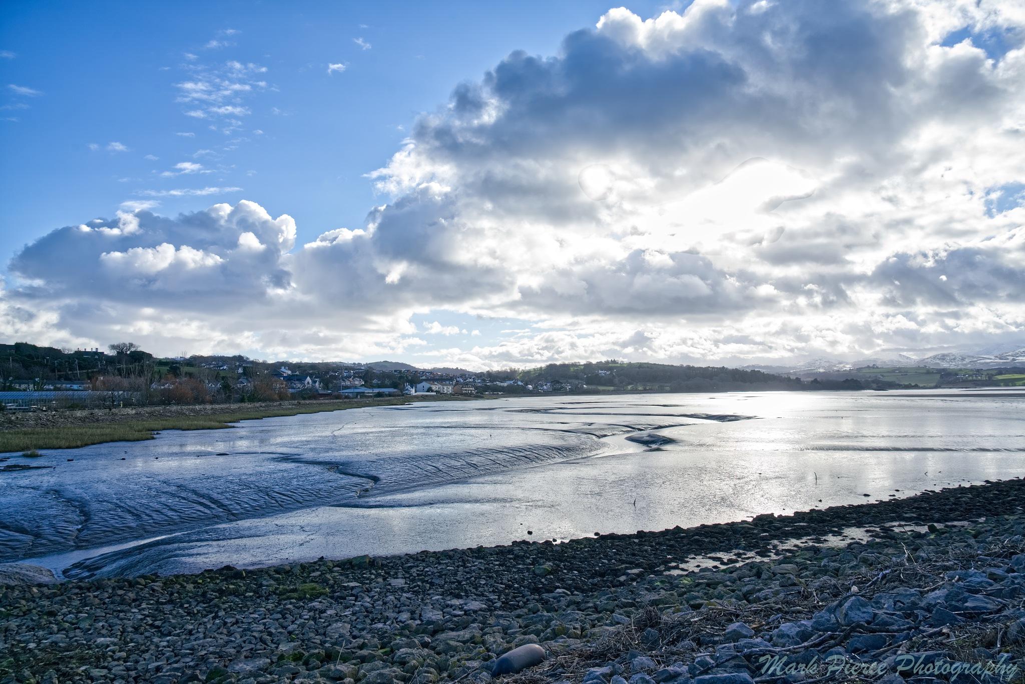 Photo in Landscape #water #estuary #sky #clouds #bluesky #sunny #landscape #peaceful #winter #day #light