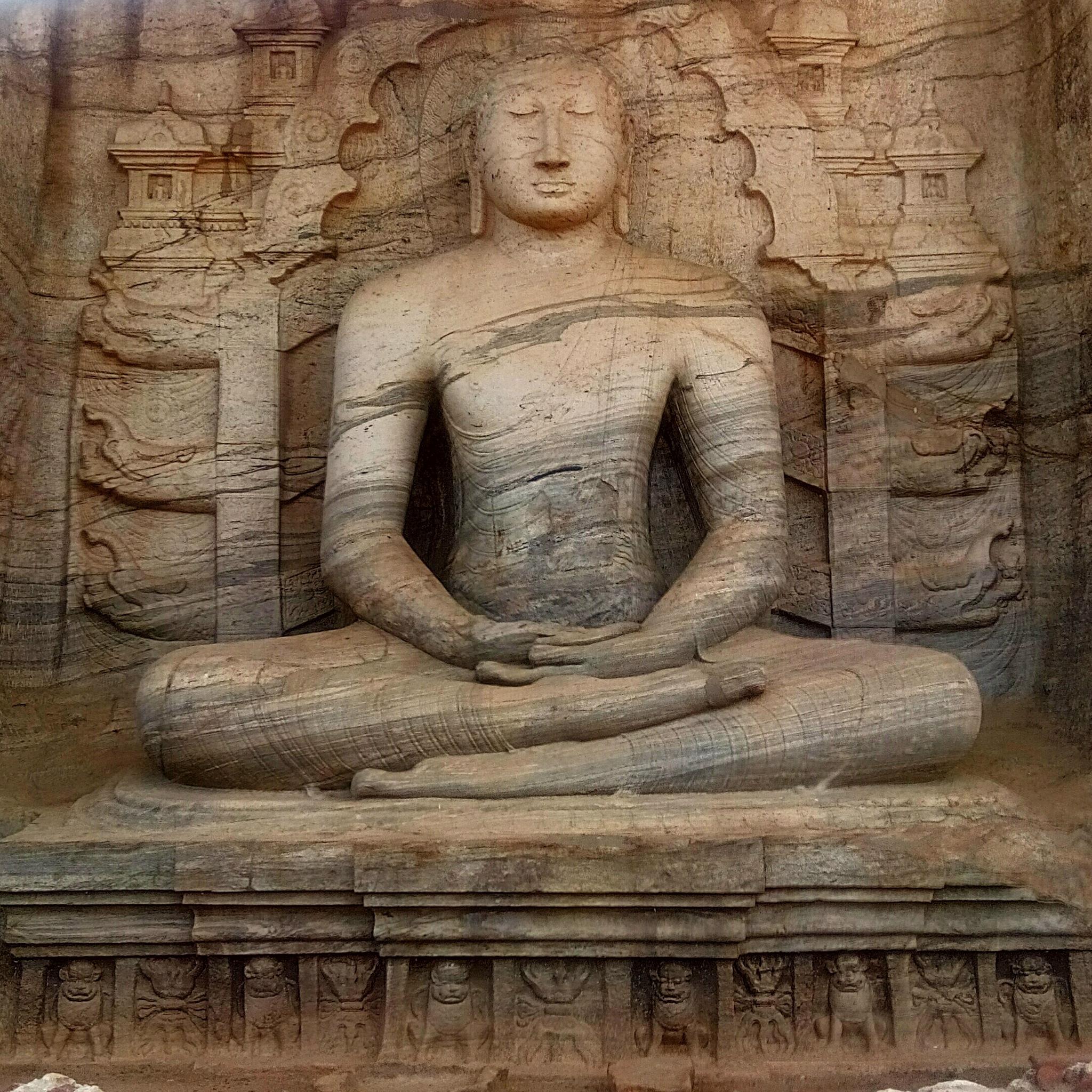 Statue at Gal Vihara by Nirjhar Barua