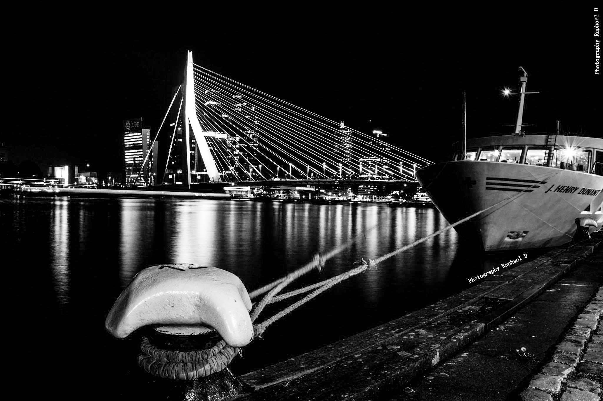 Port of Rotterdam Black and White by Rafał GIERCZAK  ©