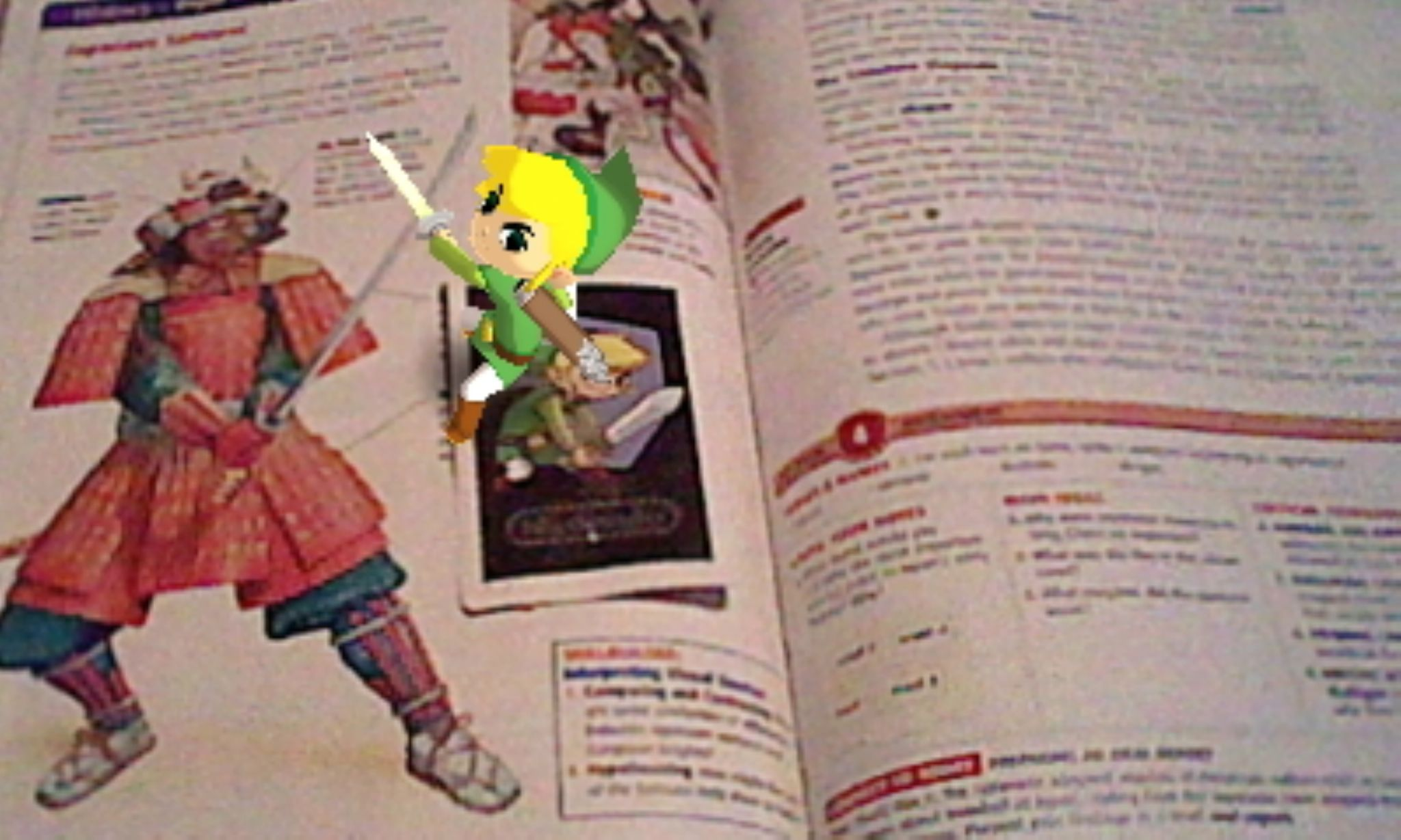 3ds camera link on my textbook by Jordan deBEST