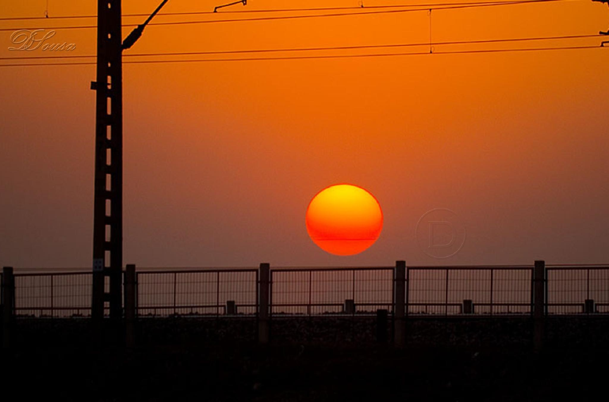 Sunset In the Railroad Track  by Daniel André Sousa