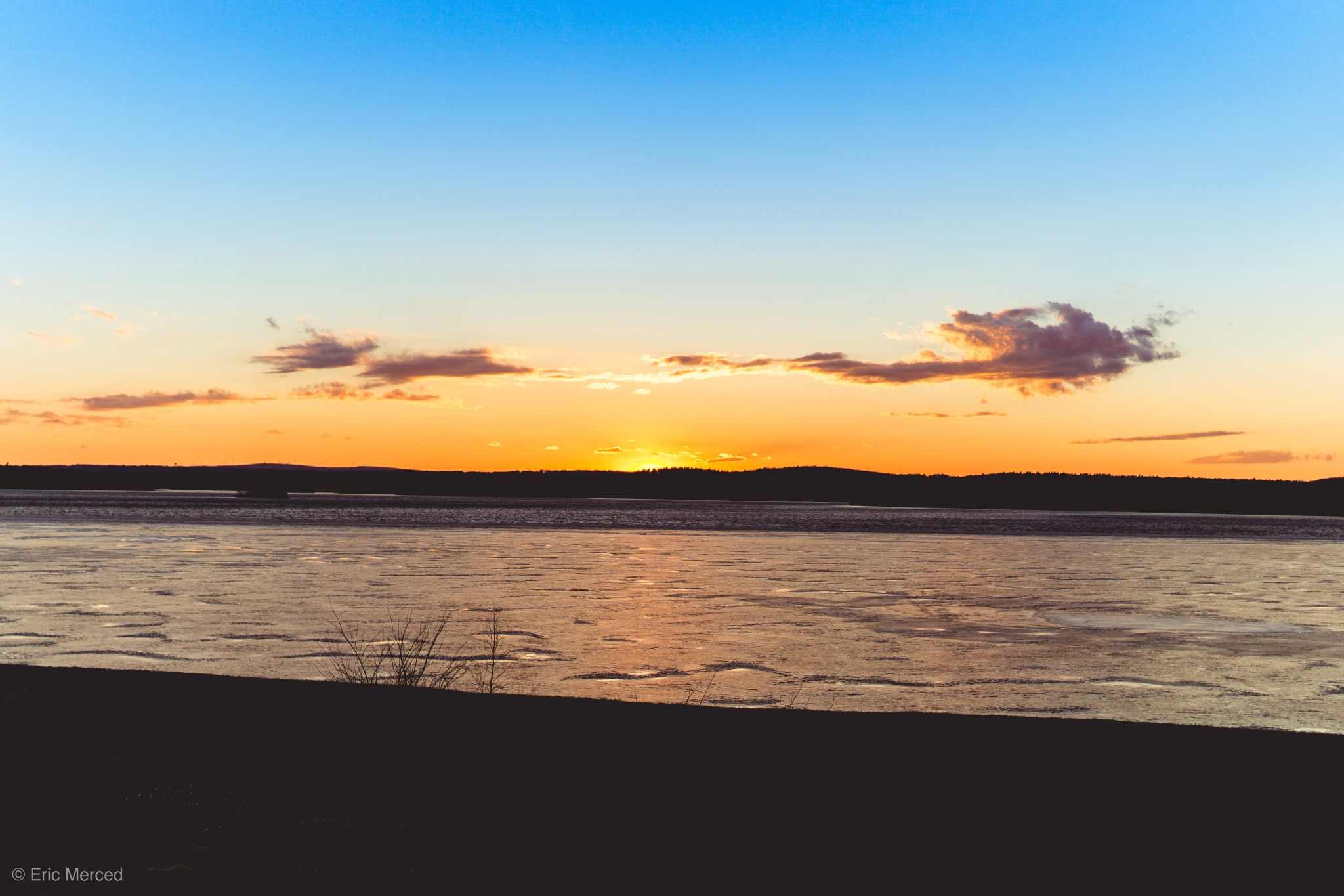 Photo in Landscape #sunset #sun #lake