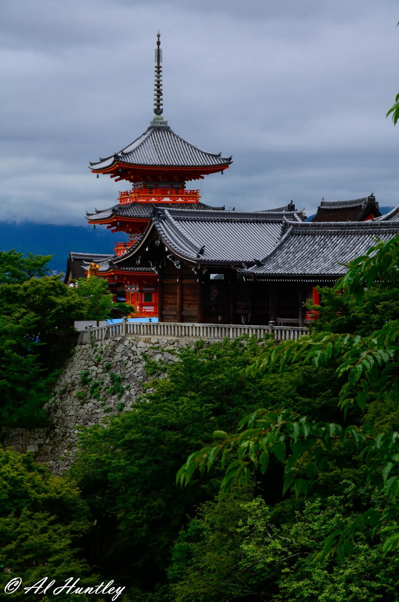 Pagoda at Kiyomizu-dera Temple by ALTON HUNTLEY