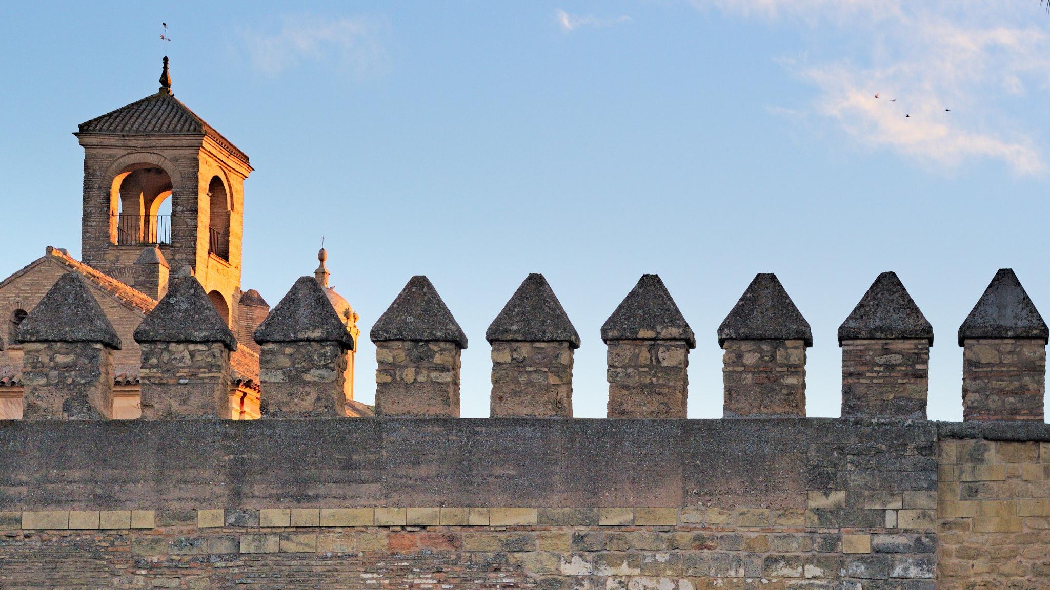 A dawn over the walls of Alcazar by Alexey Zalesny