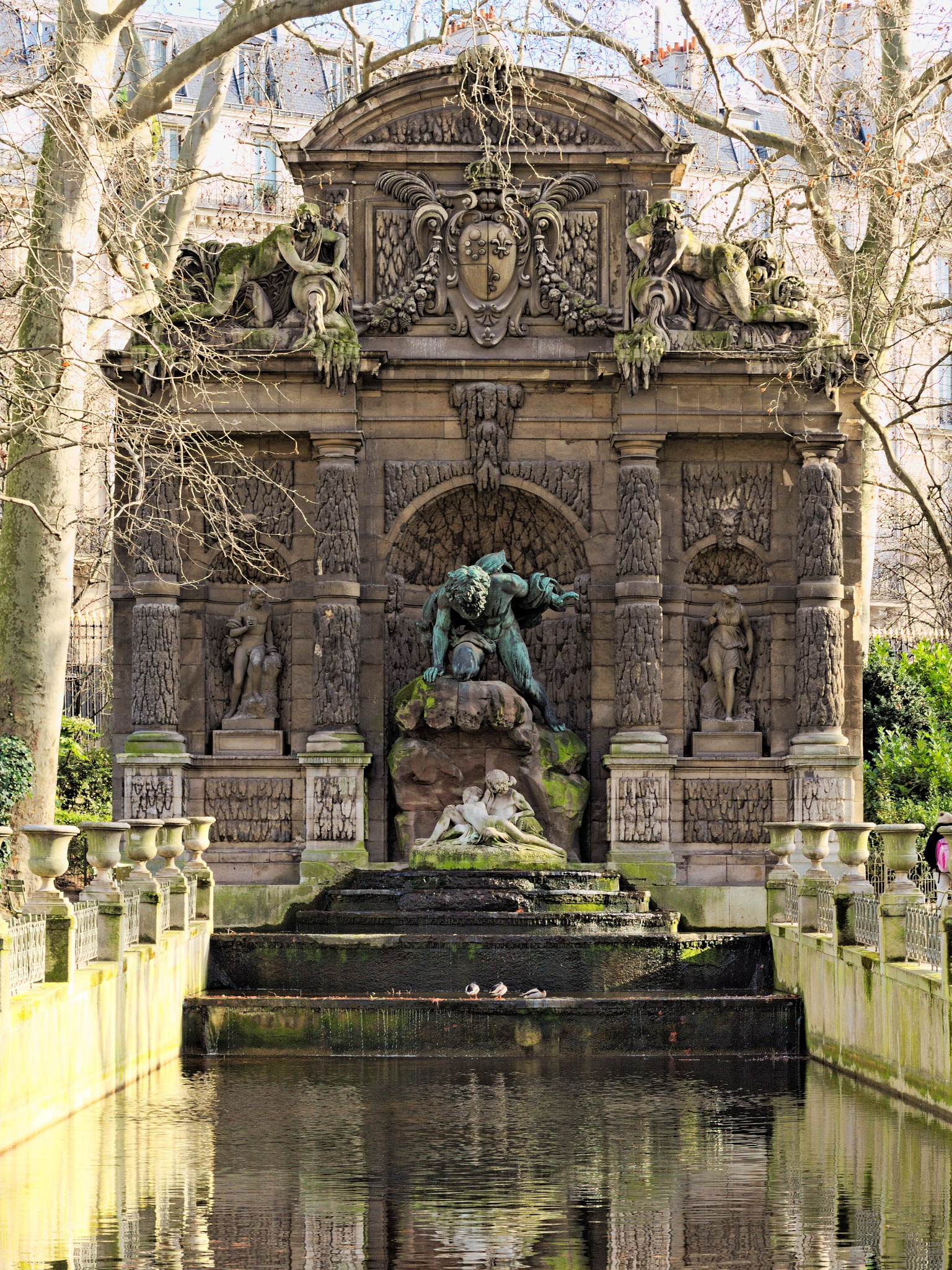 A fountain in the Luxembourg gardens by Alexey Zalesny
