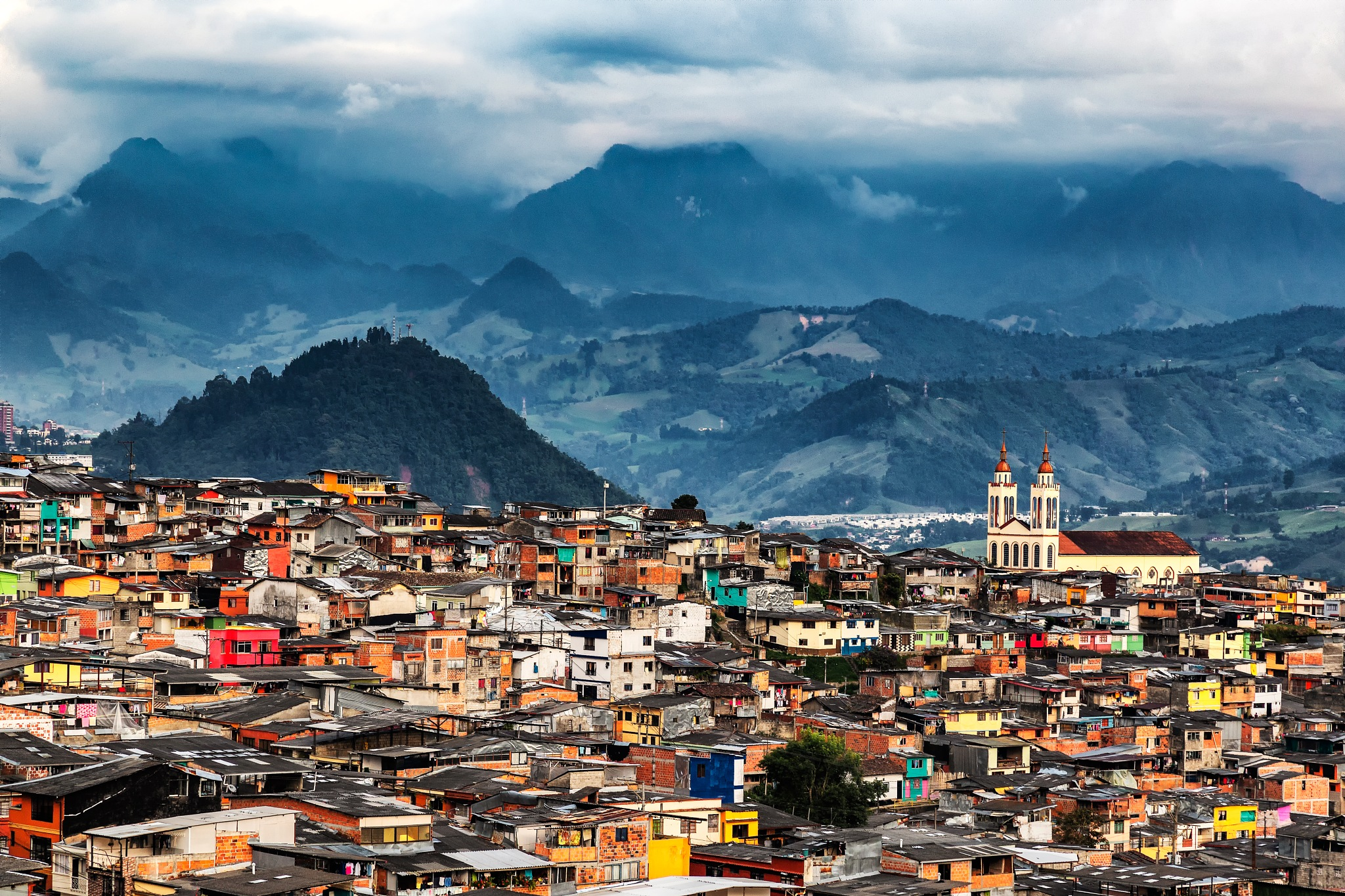 A town in the mountains of Colombia by Charly Boillot