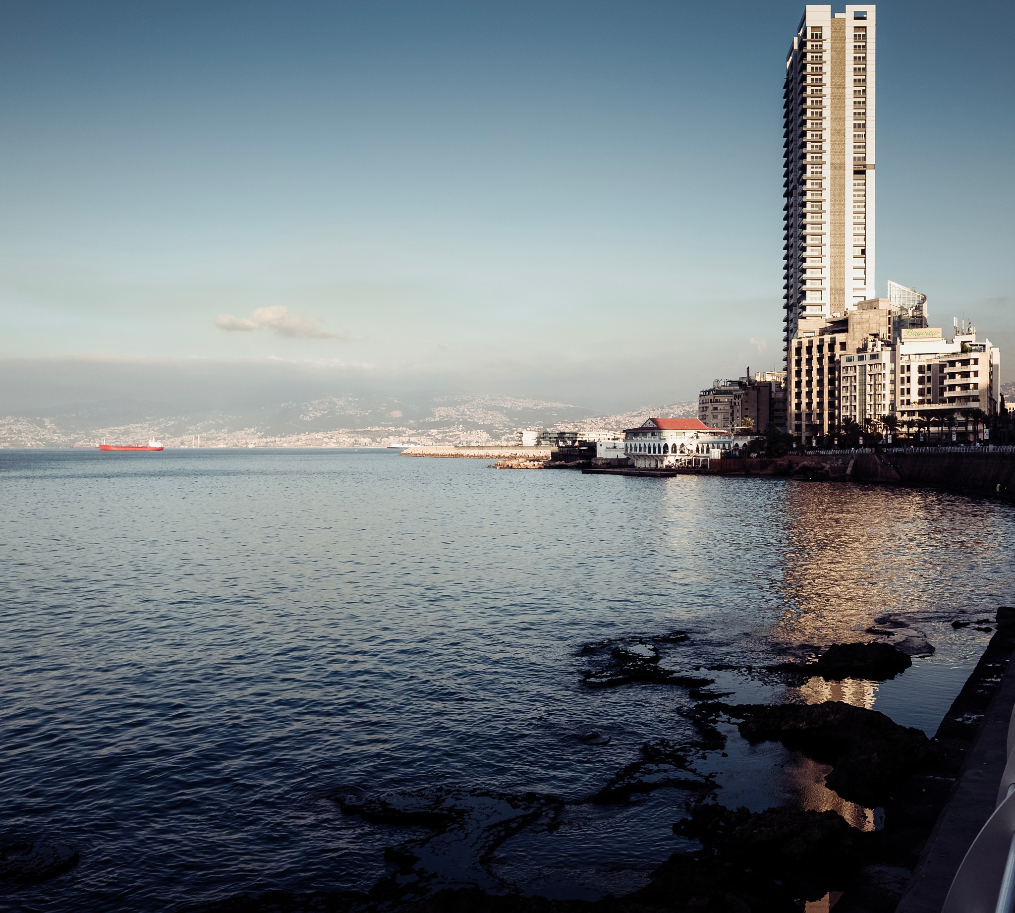Mediterranean view, city of Beirut  by Fadi H