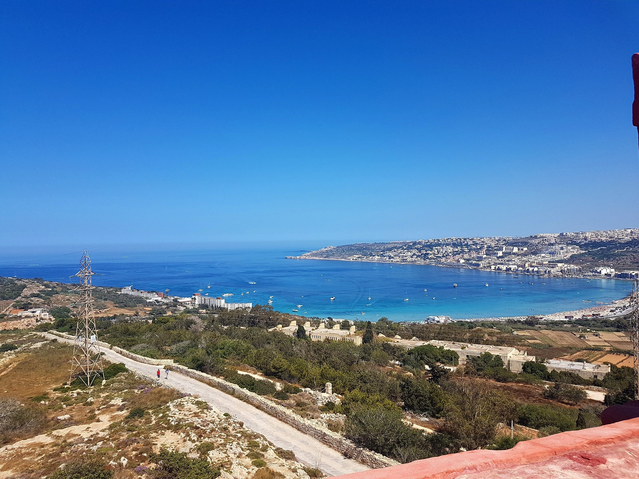 View of Mellieha Bay from Saint Agatha's Tower by Ayrton Walls