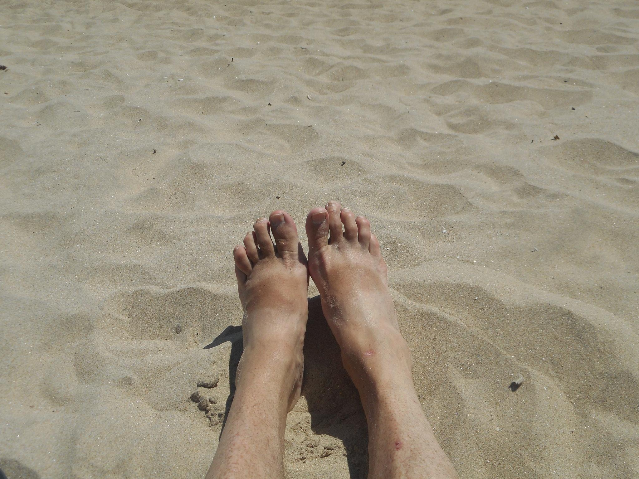 beach feet by Robert Mckenna