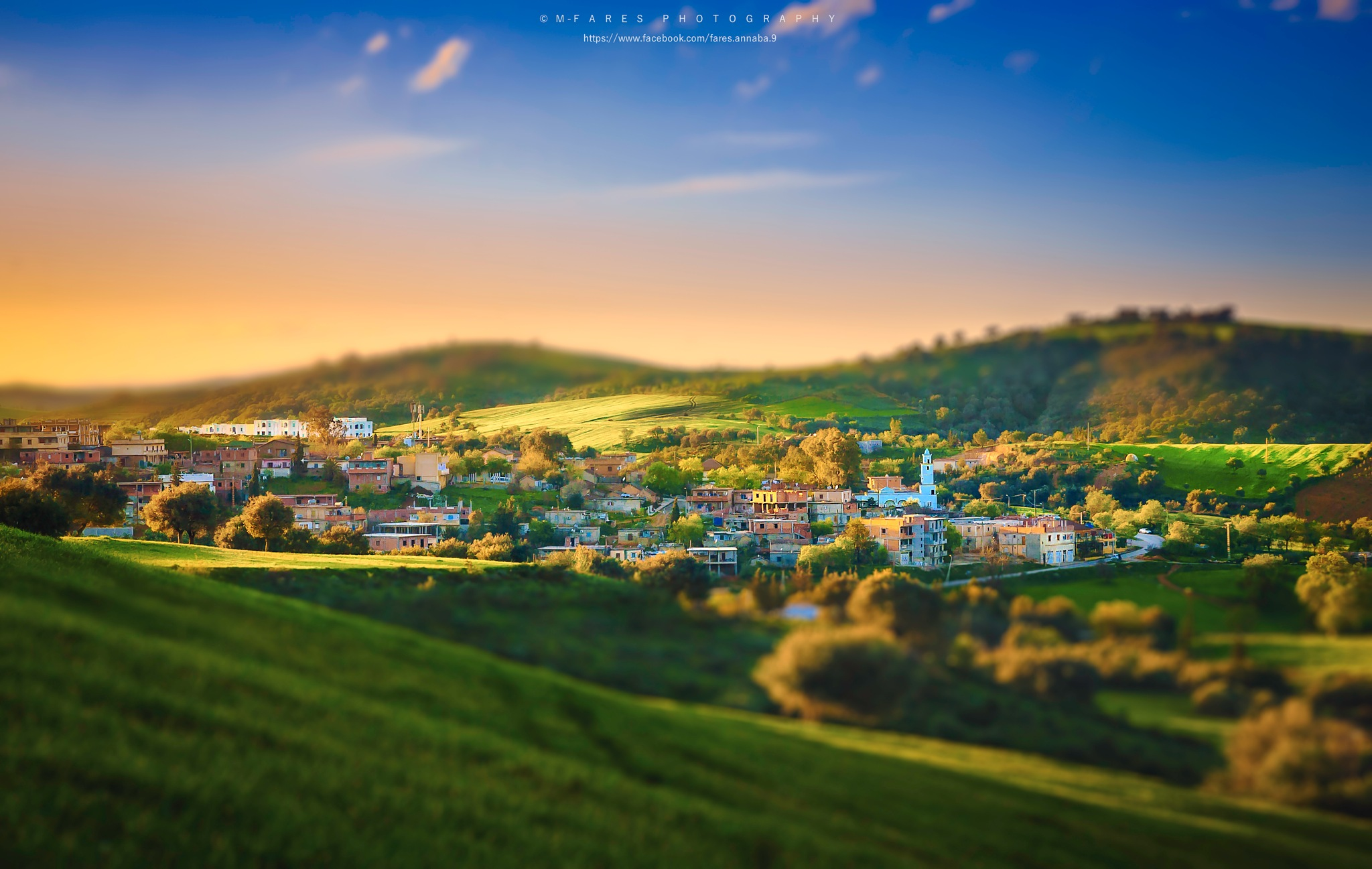The sunset at village by Fares Annaba