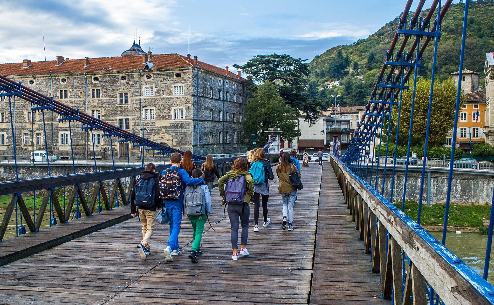 Photo in Travel #children #rhône river #marc-sequin gateway bridge #tain l'hermitage #france #travel