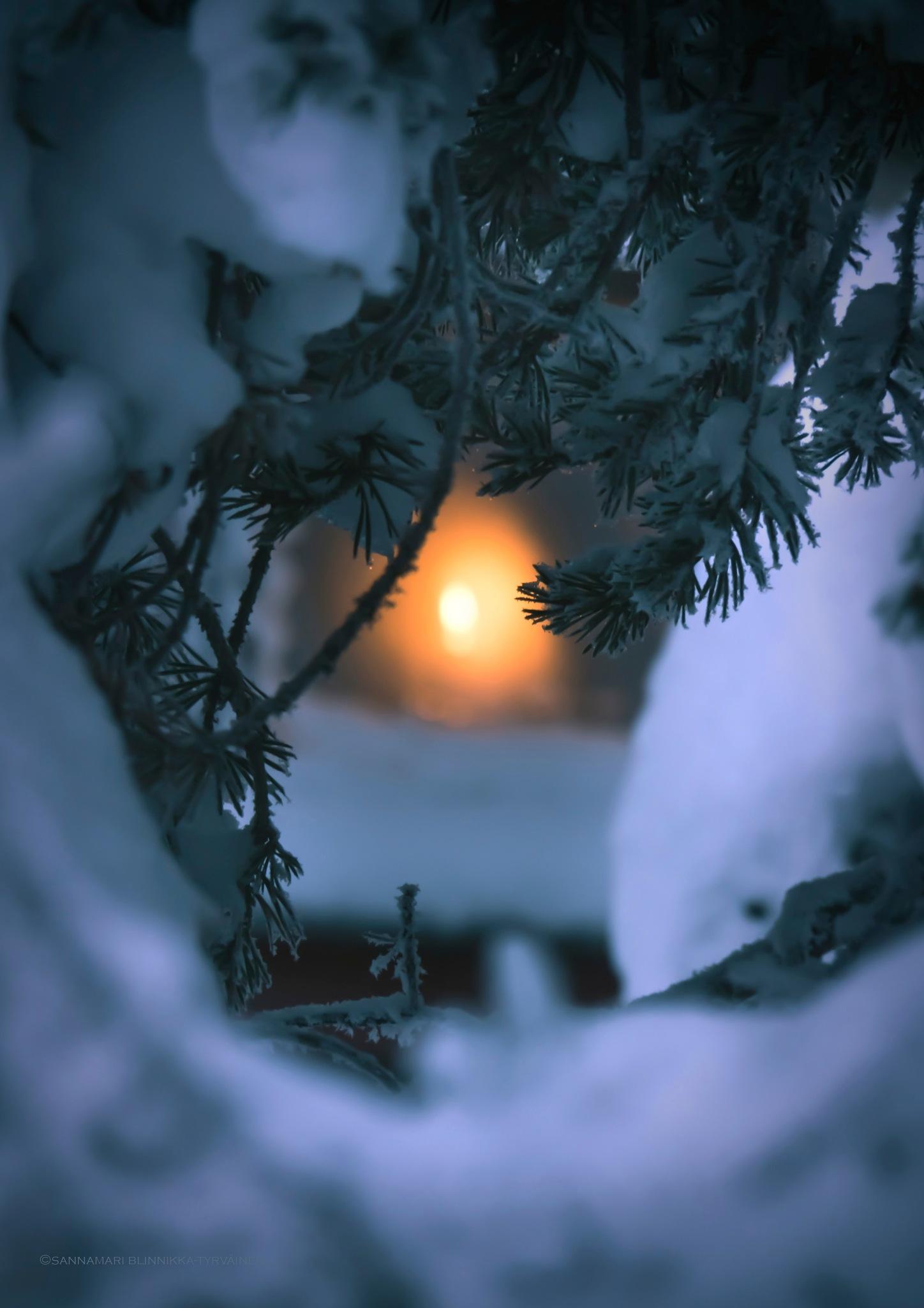 A candle in the window by Sannamari Blinnikka-Tyrväinen