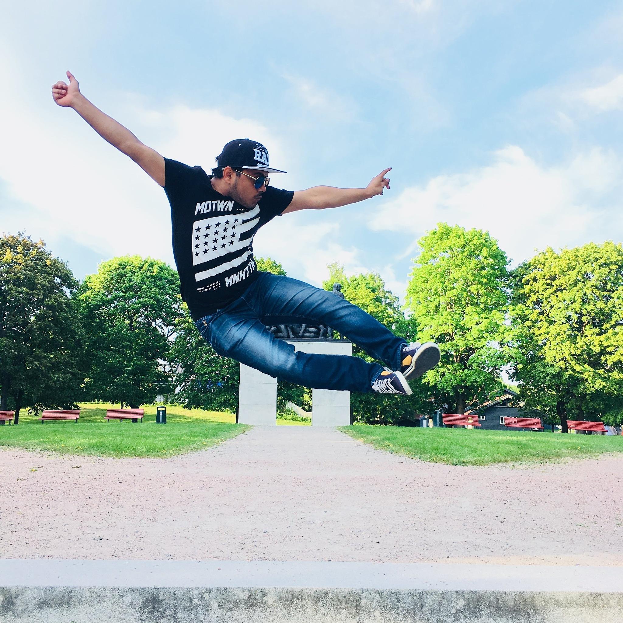 In the air by Deepak Kumar Swain
