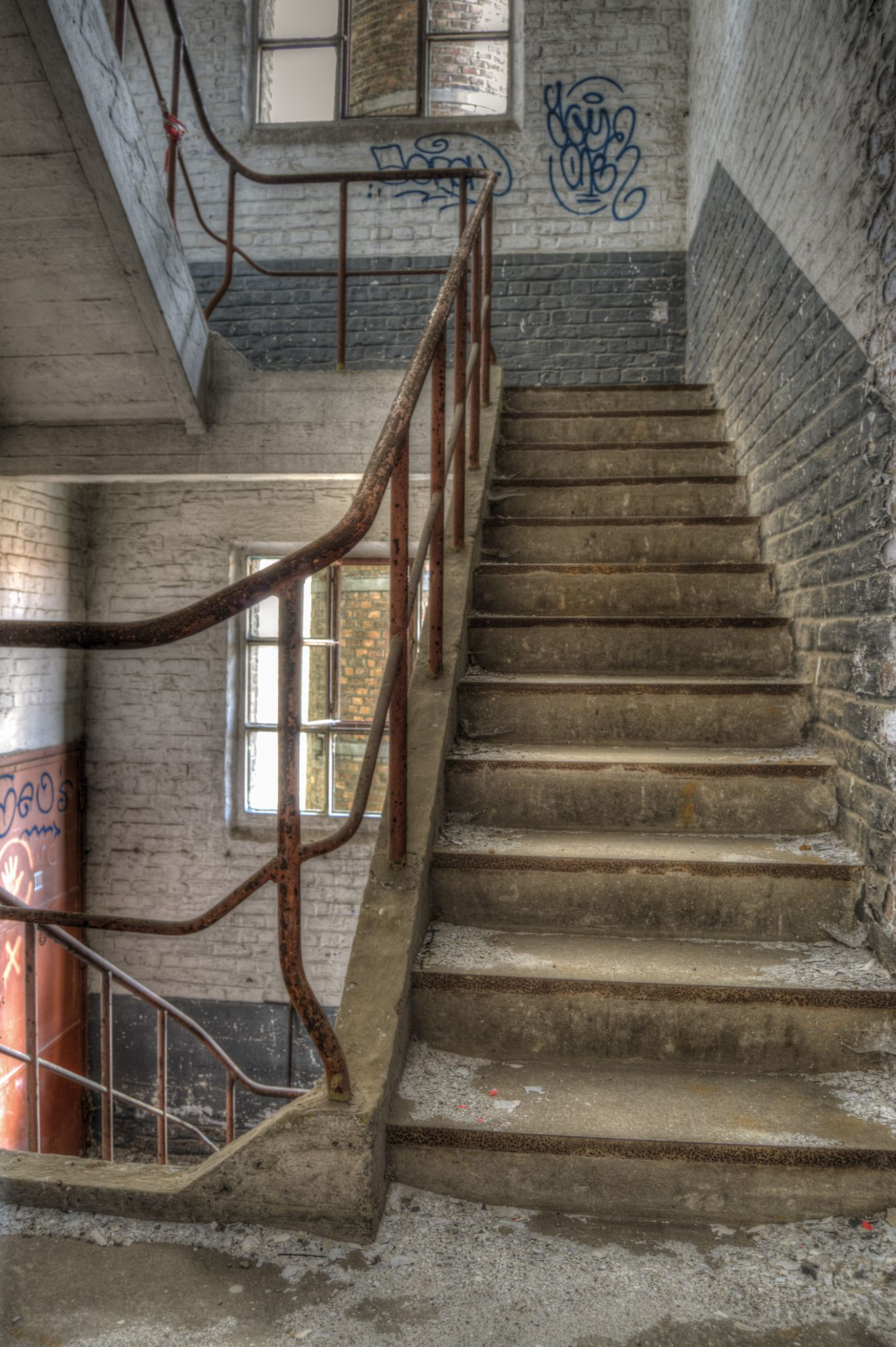 Old brewery stairs by Joël Arys