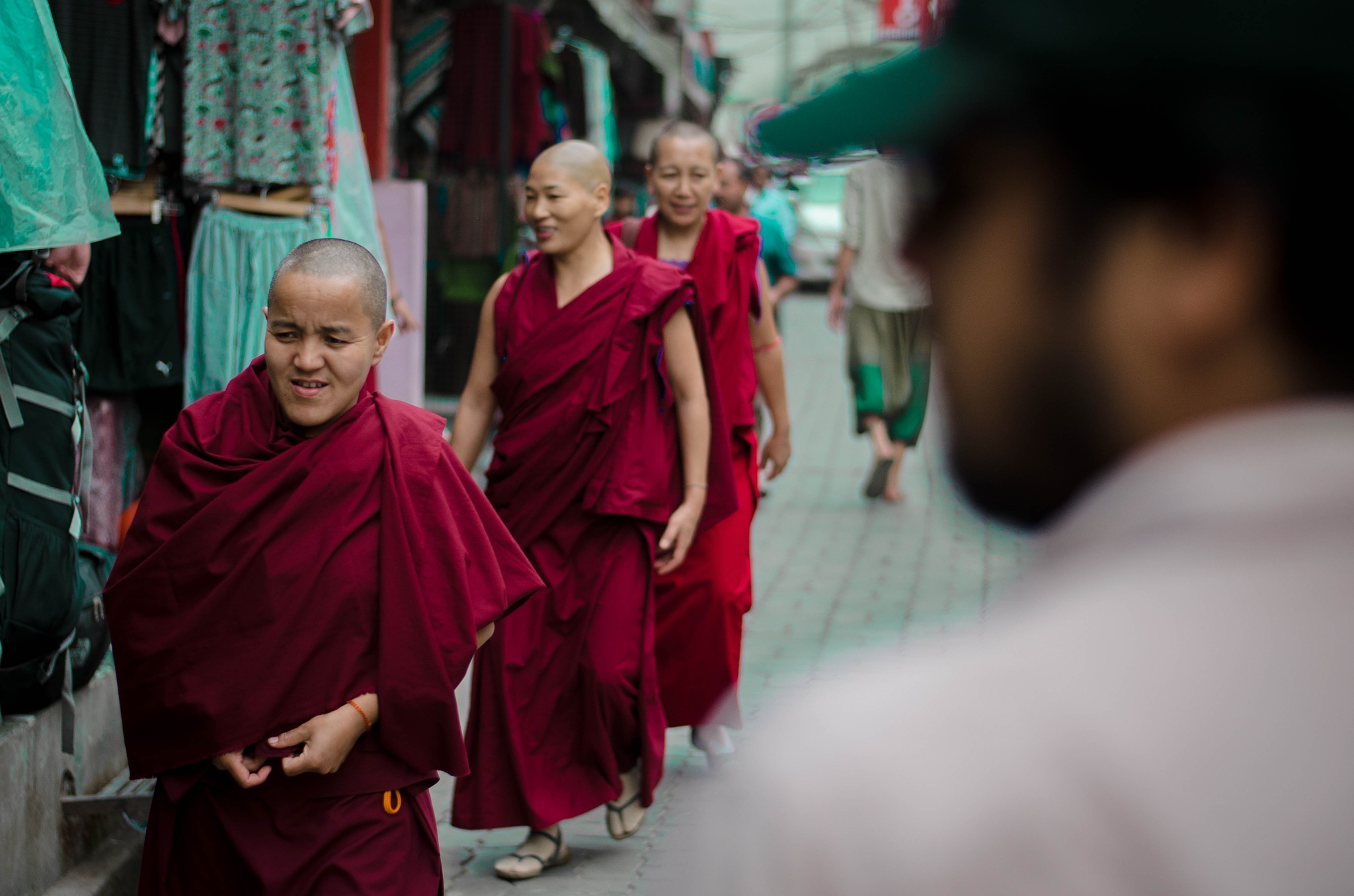 Monks on the streets by Prateek Khatri