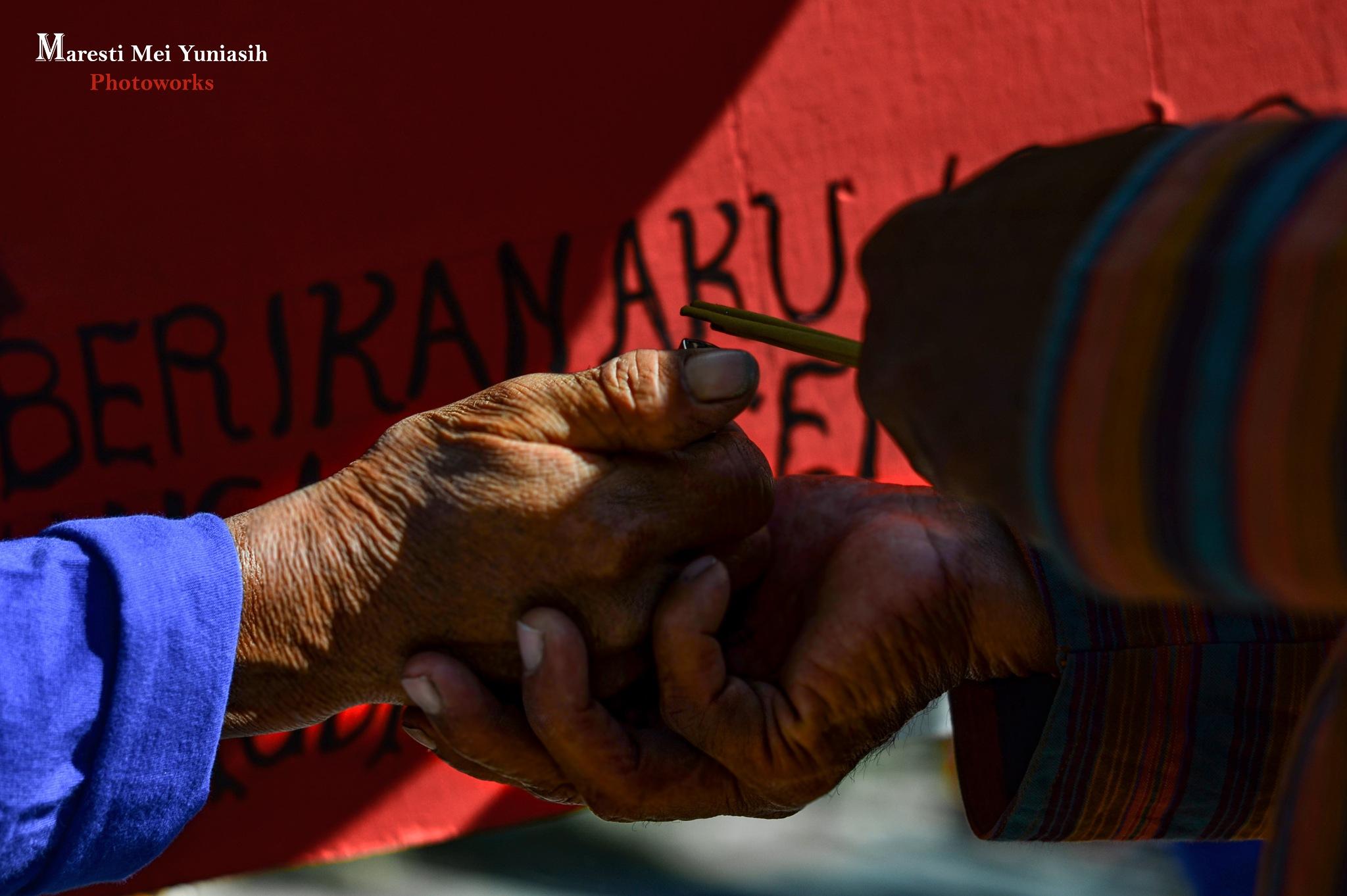 Wrinkled Hands by Maresti Mei Yuniasih