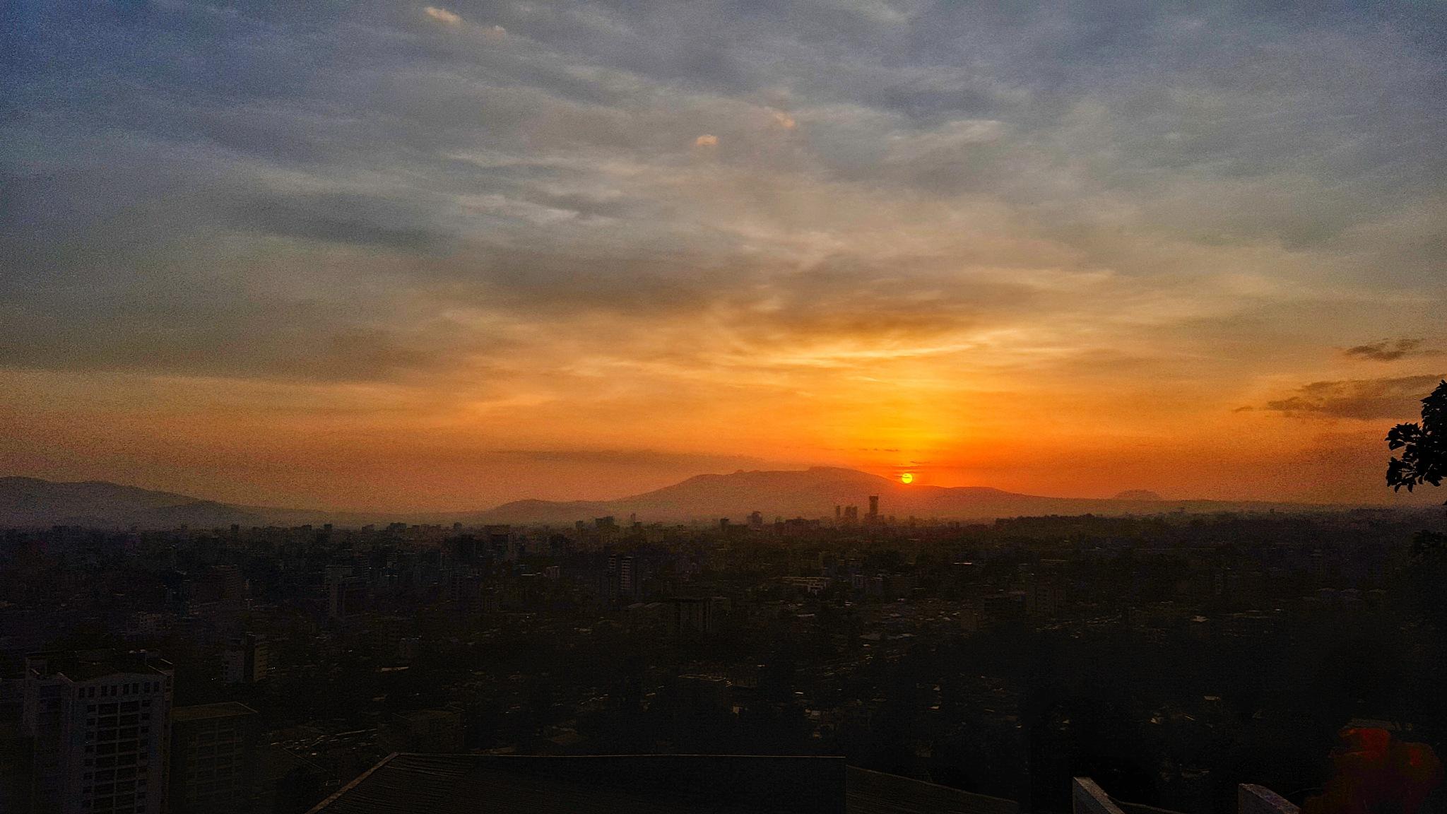Sunset over Addis Ababa.  by kirubeldemsash