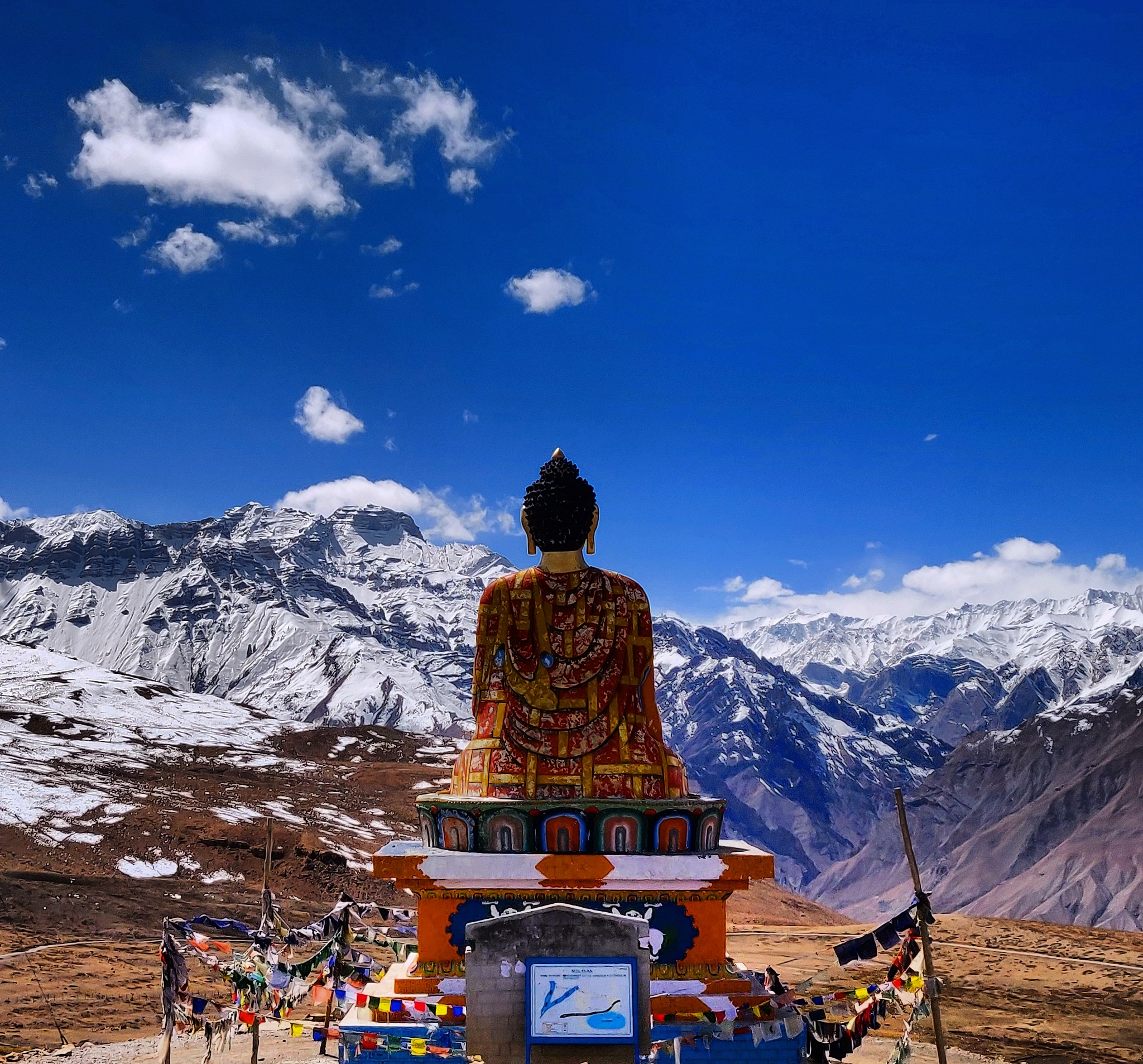 Buddha in Spiti by heisenbergpsy
